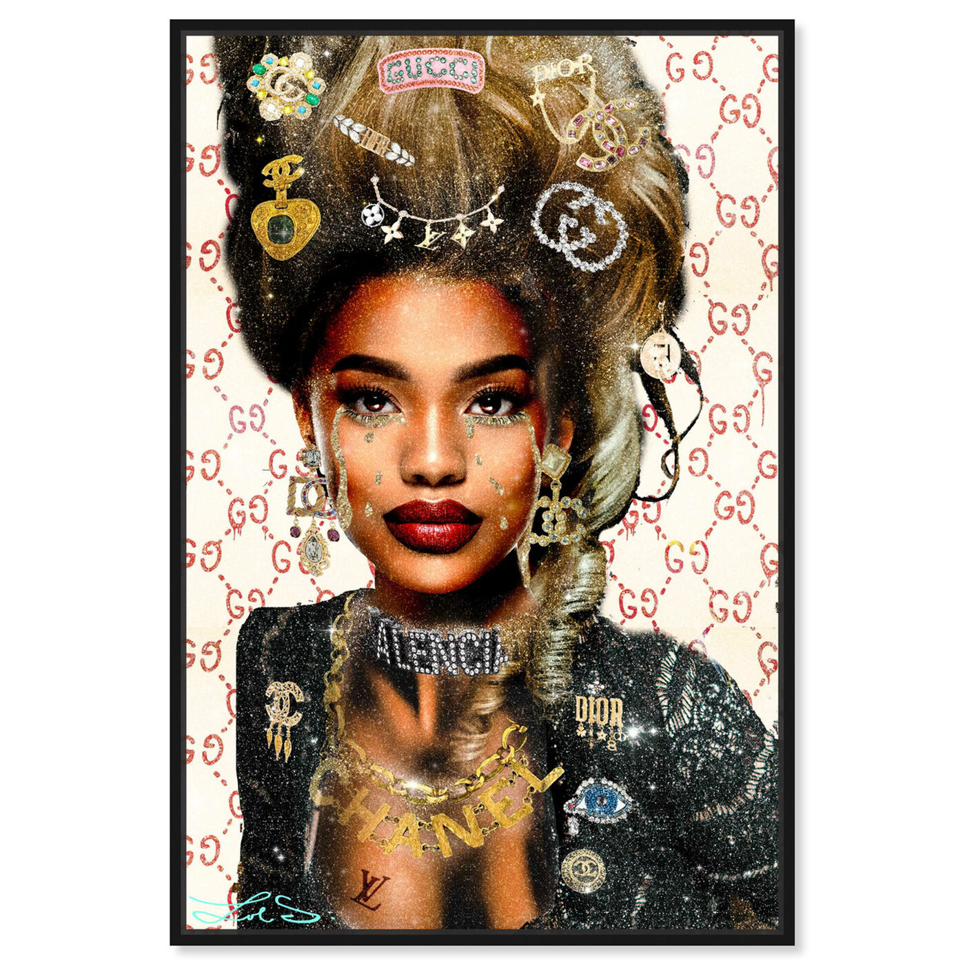 Front view of Real Queen of Everything featuring fashion and glam and fashion lifestyle art.