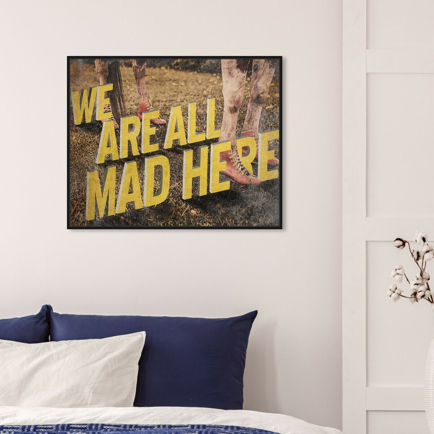 Hanging view of Mooove Over featuring typography and quotes and funny quotes and sayings art.