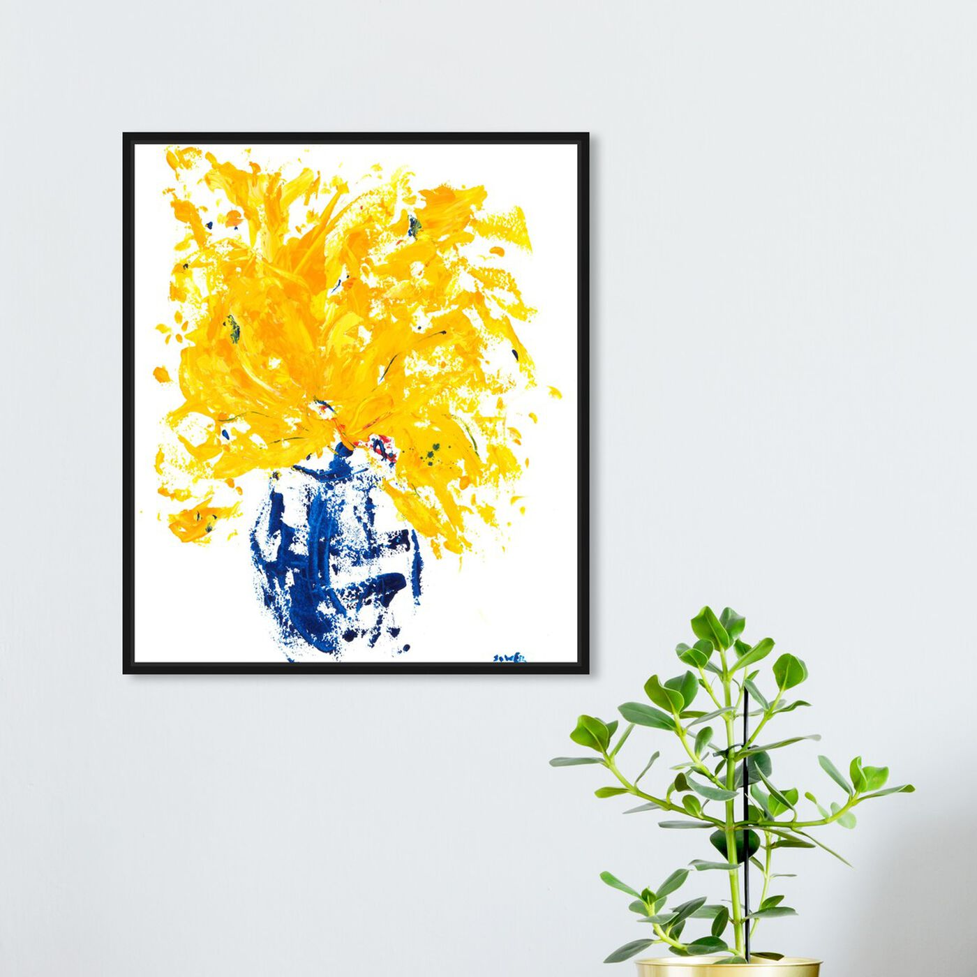 Hanging view of Summer by the Sea by Claire Sower featuring floral and botanical and florals art.
