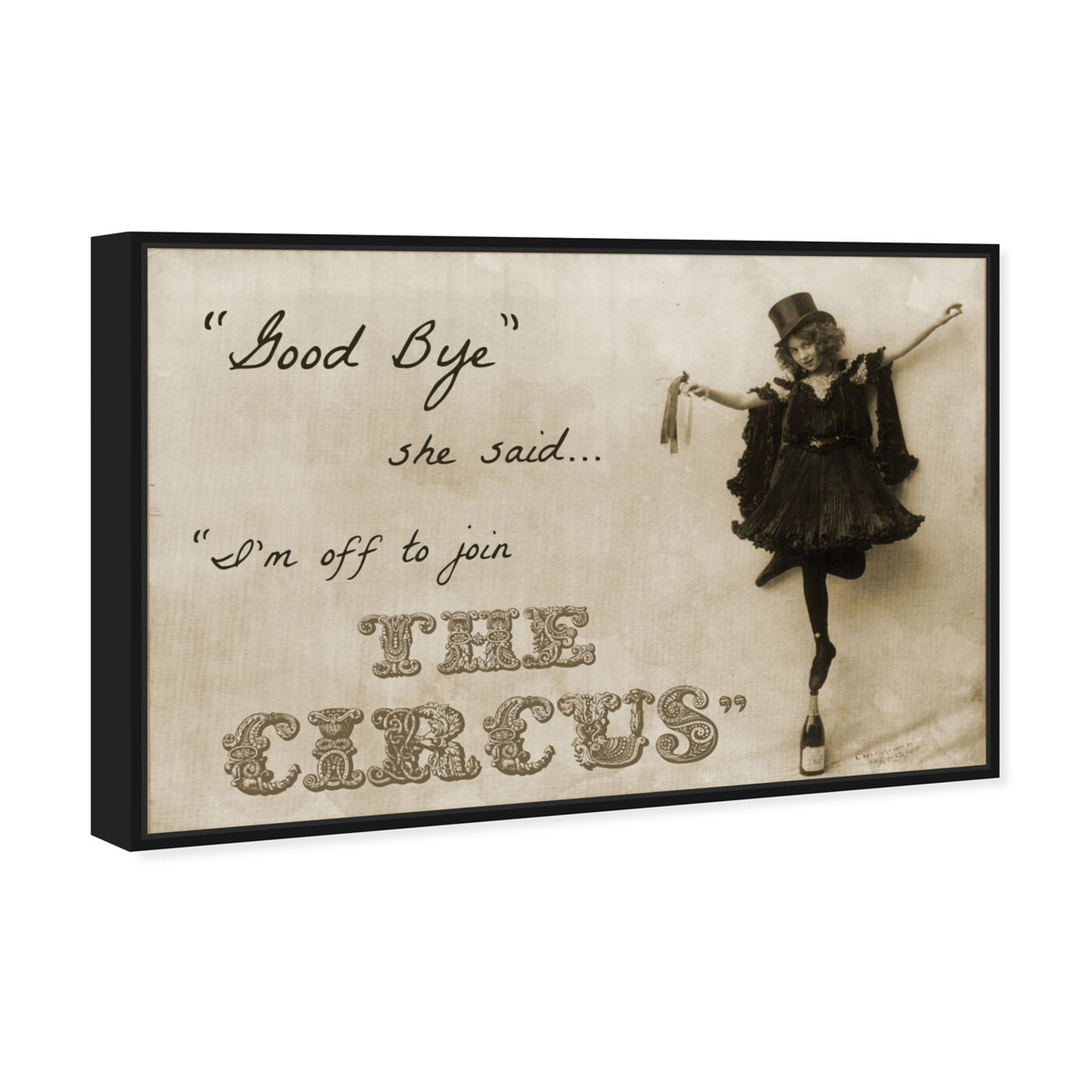 Angled view of Join the Circus featuring typography and quotes and quotes and sayings art.
