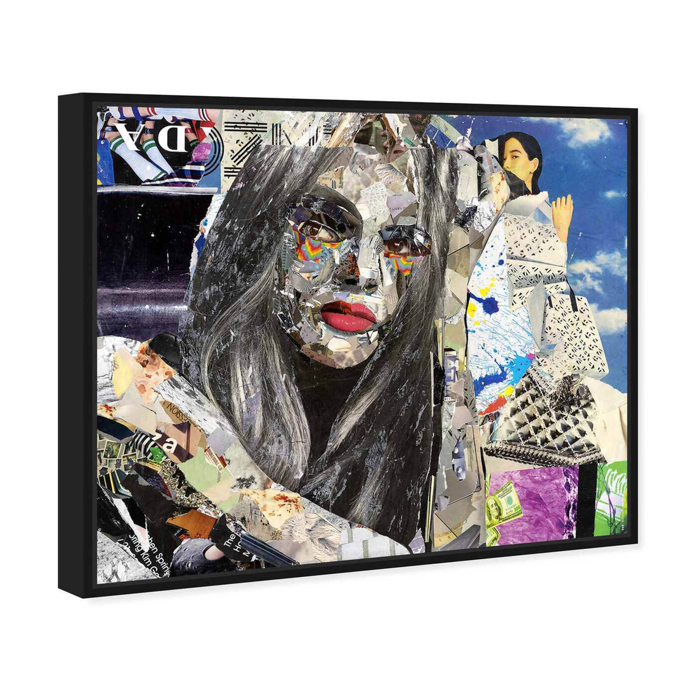 Angled view of Katy Hirschfeld - Elegant Flow featuring fashion and glam and portraits art.