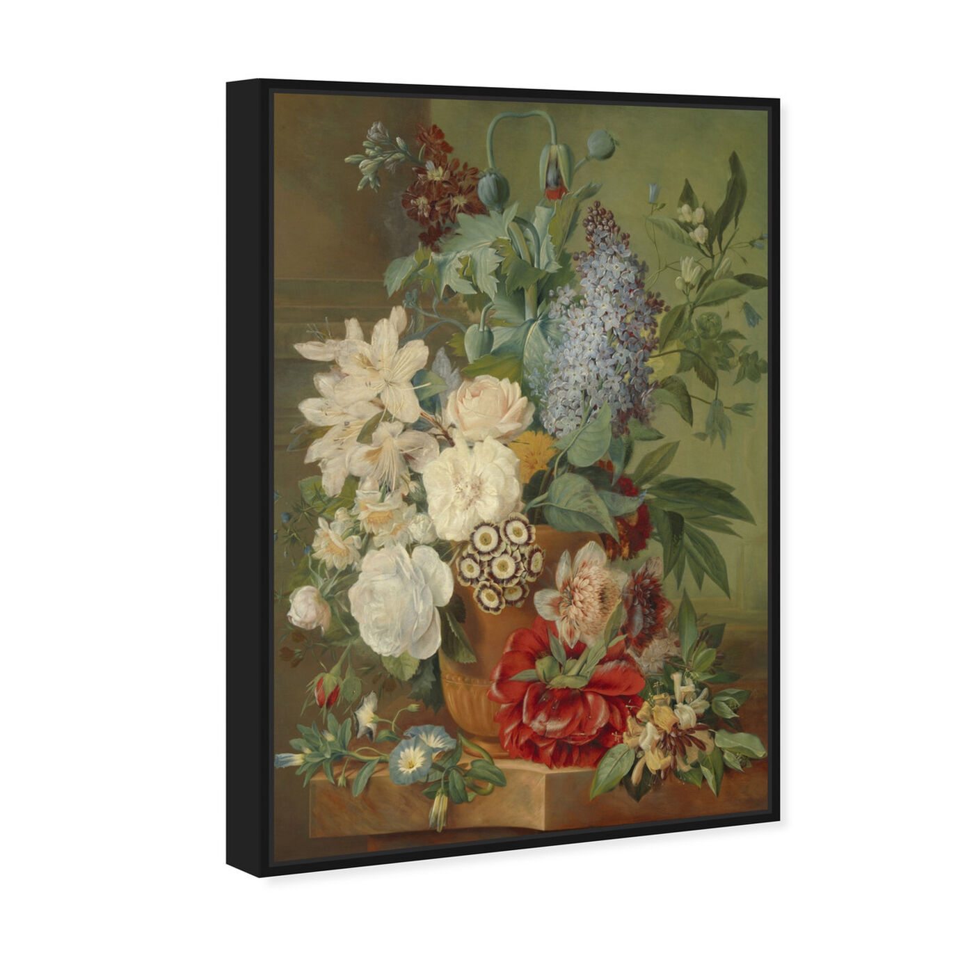 Angled view of Flower Arrangement VIII - The Art Cabinet featuring classic and figurative and french décor art.