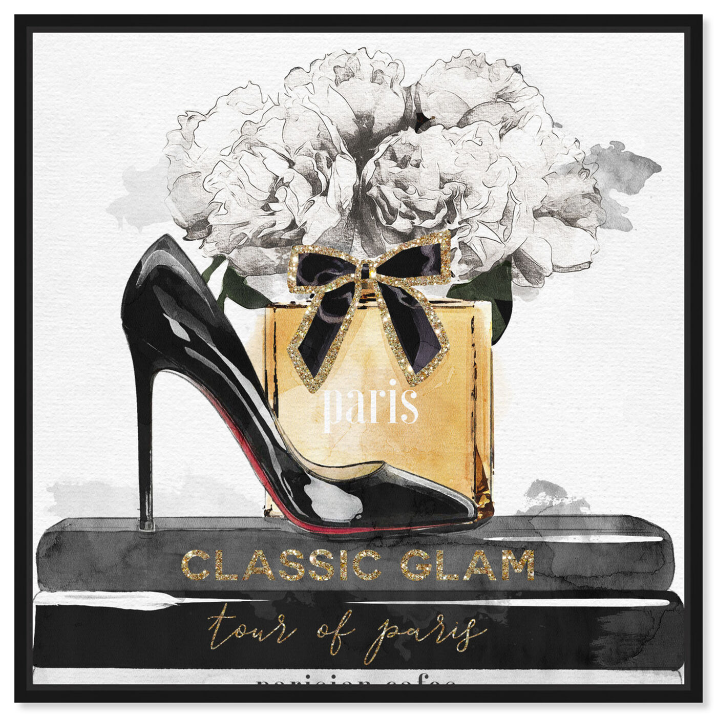 Front view of Glamorous Stack featuring fashion and glam and shoes art.