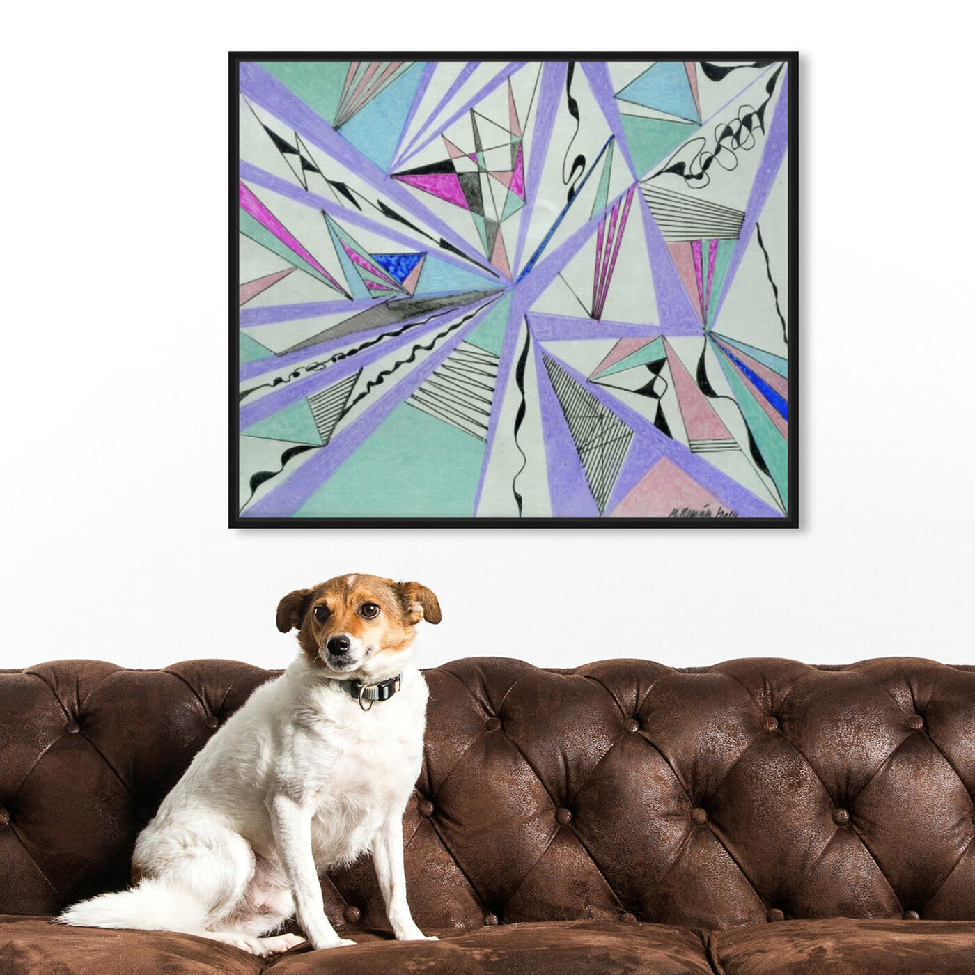 Hanging view of Musica featuring abstract and geometric art.
