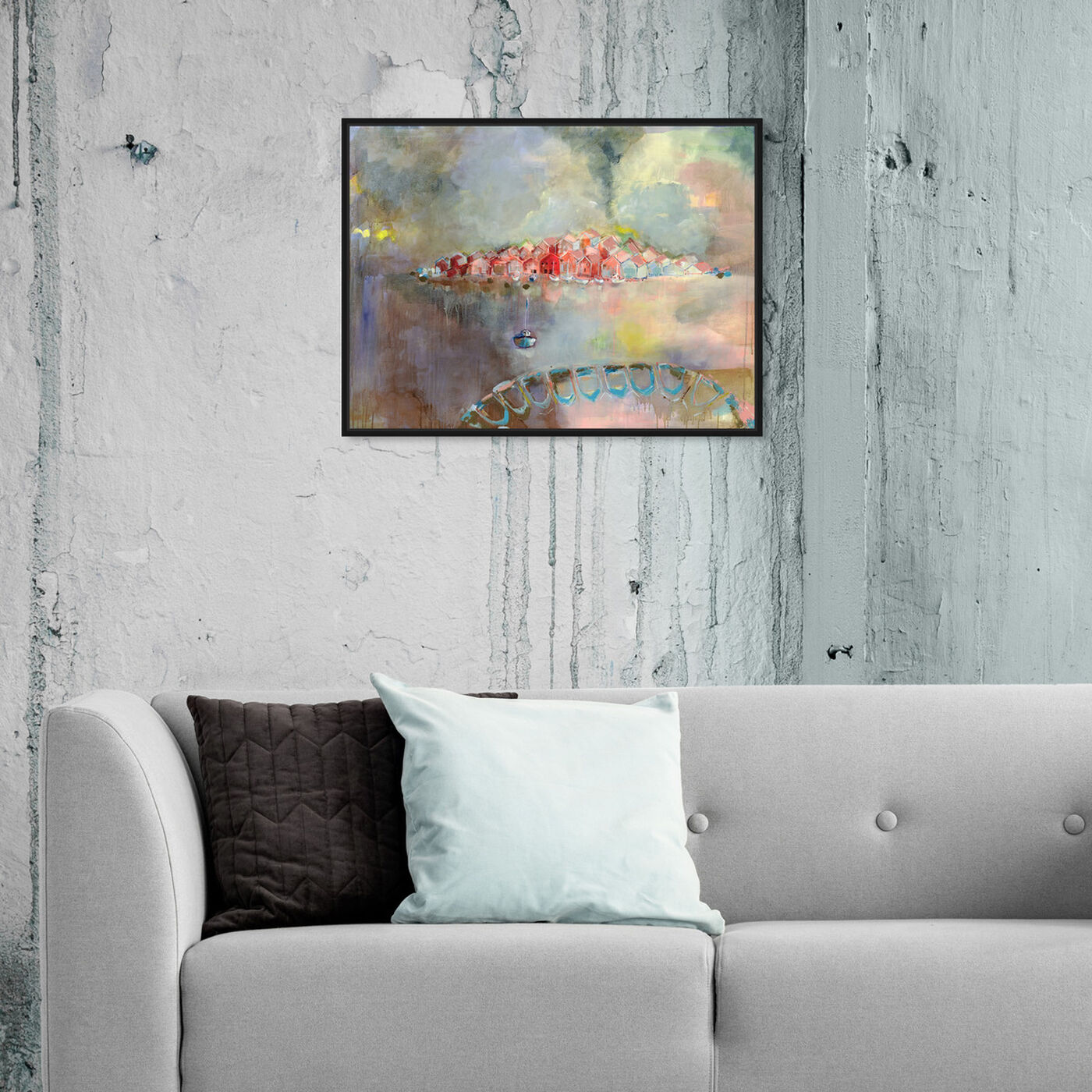 Hanging view of A Place Called Home by Michaela Nessim featuring nature and landscape and country landscapes art.