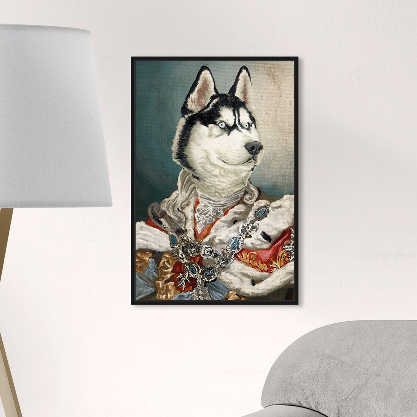 Hanging view of Royal Husky featuring animals and dogs and puppies art.