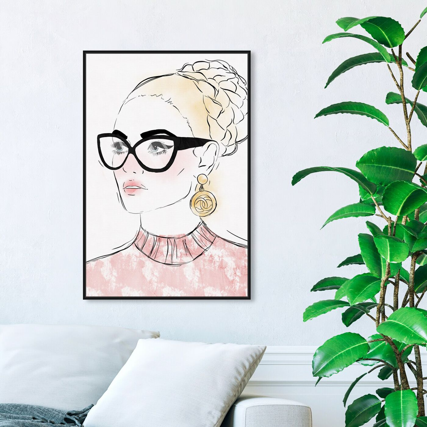 Hanging view of Boss Look featuring fashion and glam and portraits art.