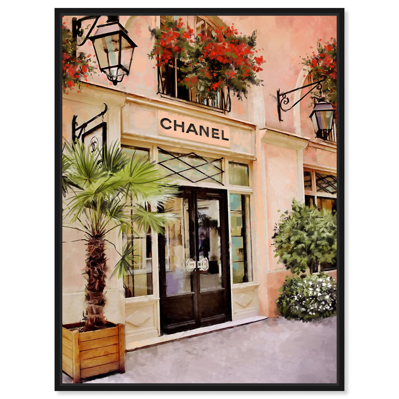 Front view of Cote DAzur Boutique featuring fashion and glam and road signs art.