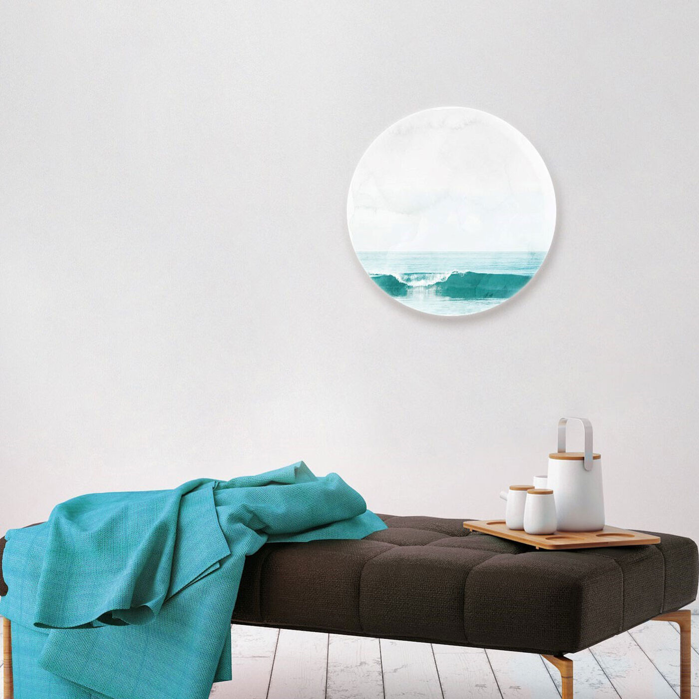 Hanging view of The Wave Circle featuring nautical and coastal and coastal landscapes art.