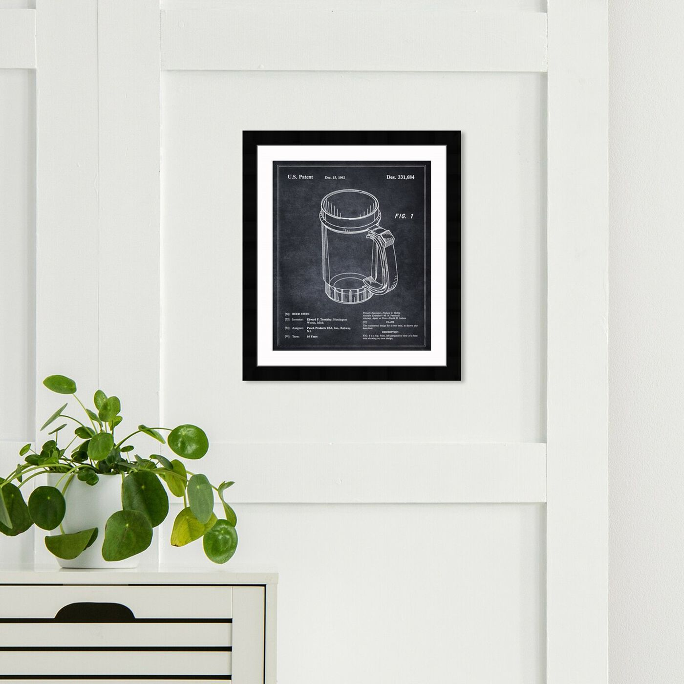 Hanging view of Beer Stein 1992 featuring drinks and spirits and beer art.