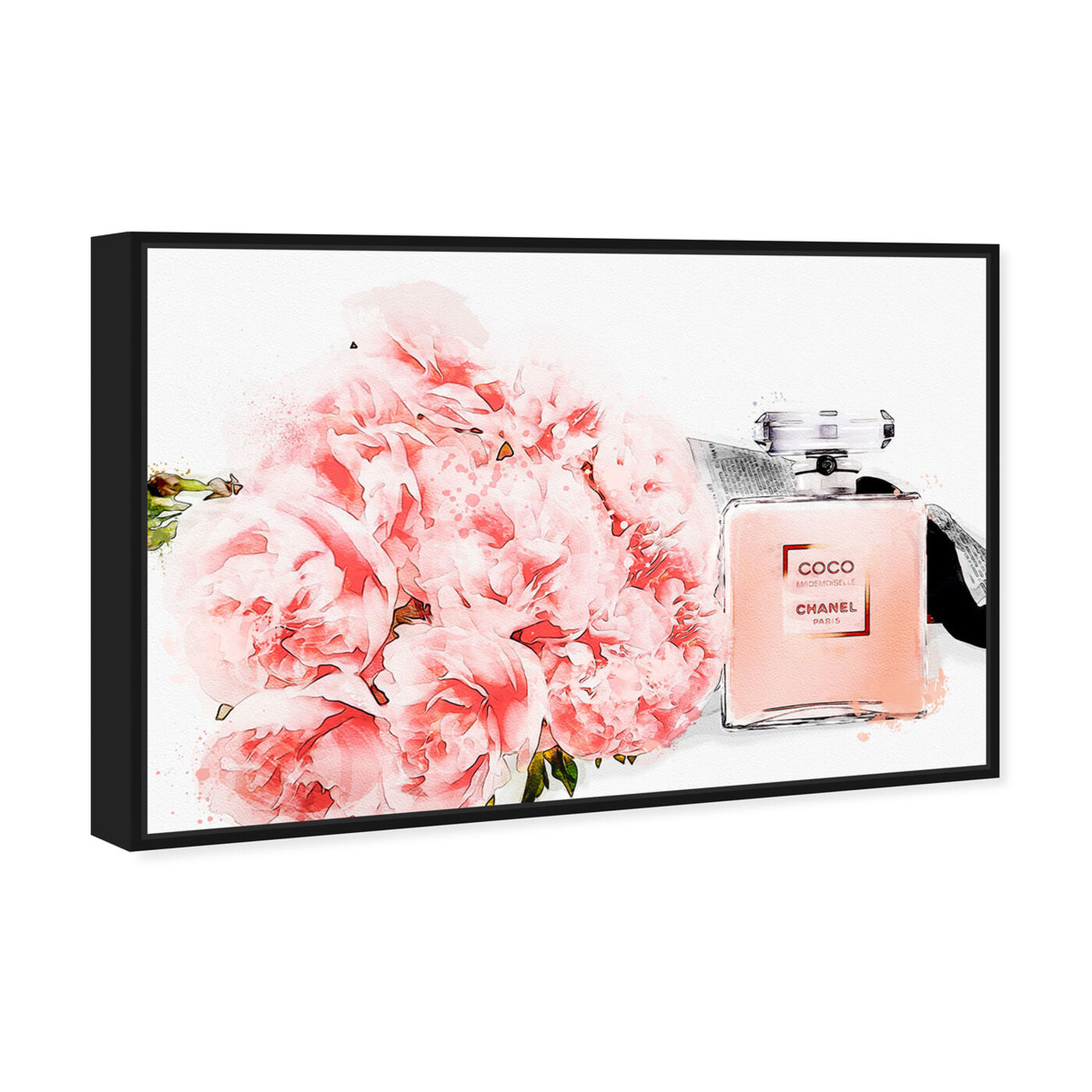 Angled view of Flowers and Perfume Glam featuring fashion and glam and perfumes art.