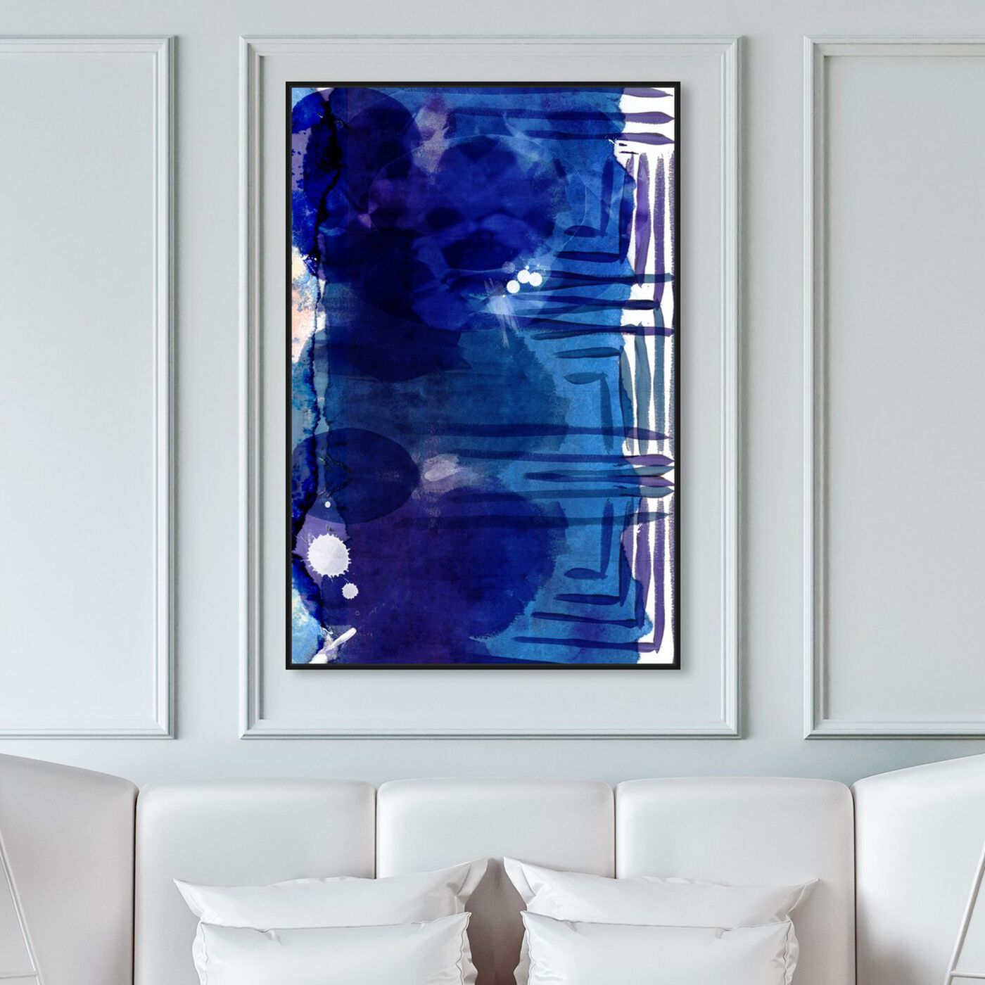 Hanging view of Piraeus featuring abstract and paint art.