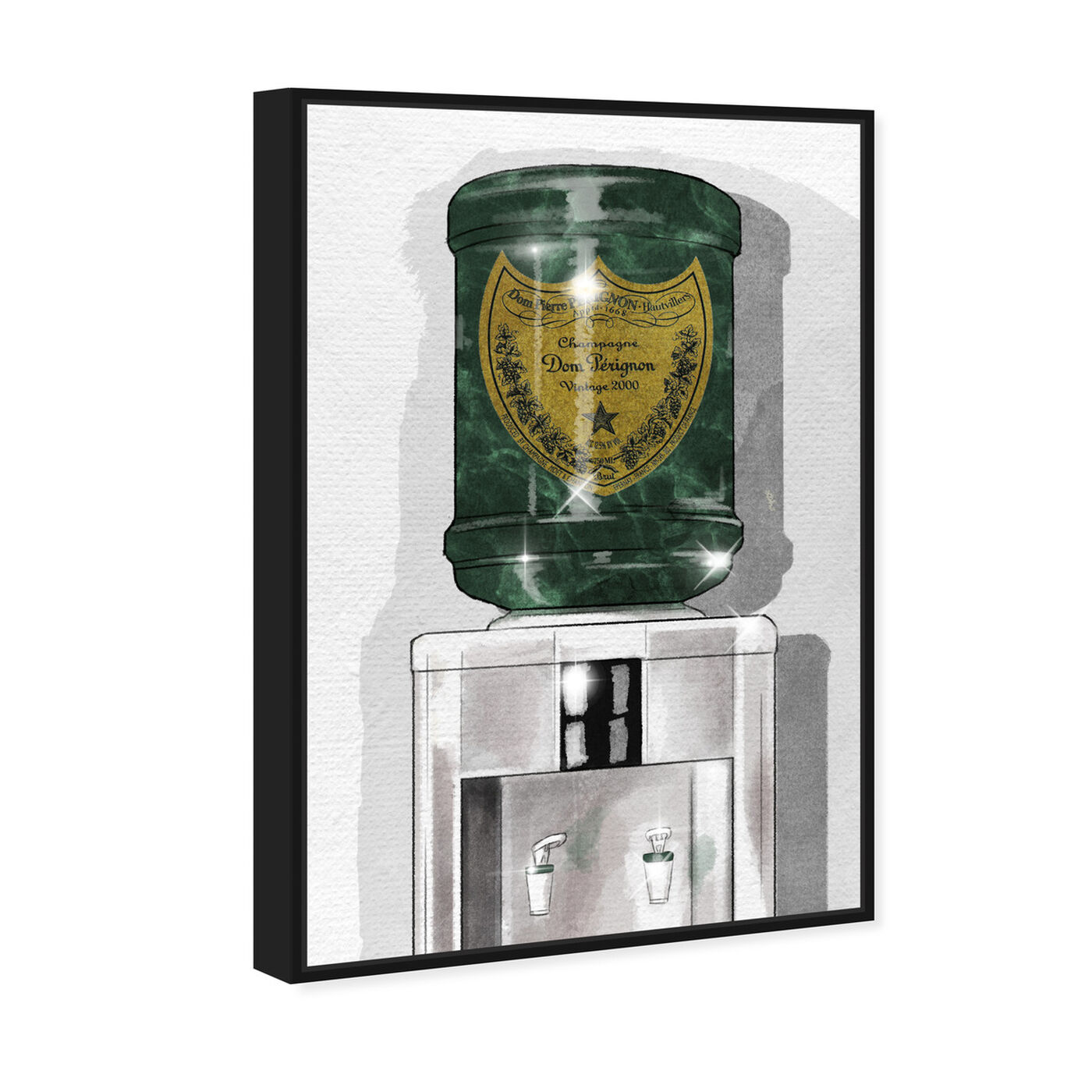 Angled view of Dom Champagne Watercooler featuring fashion and glam and lifestyle art.