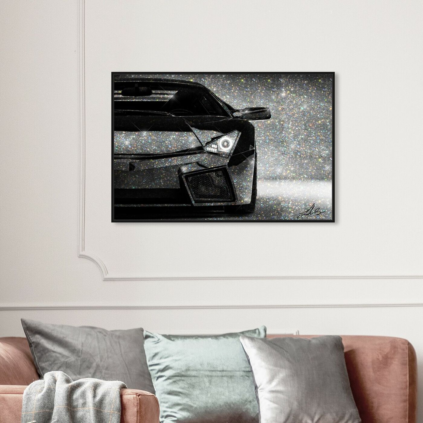 Hanging view of Love Doesn't Drive a Lambo featuring transportation and automobiles art.