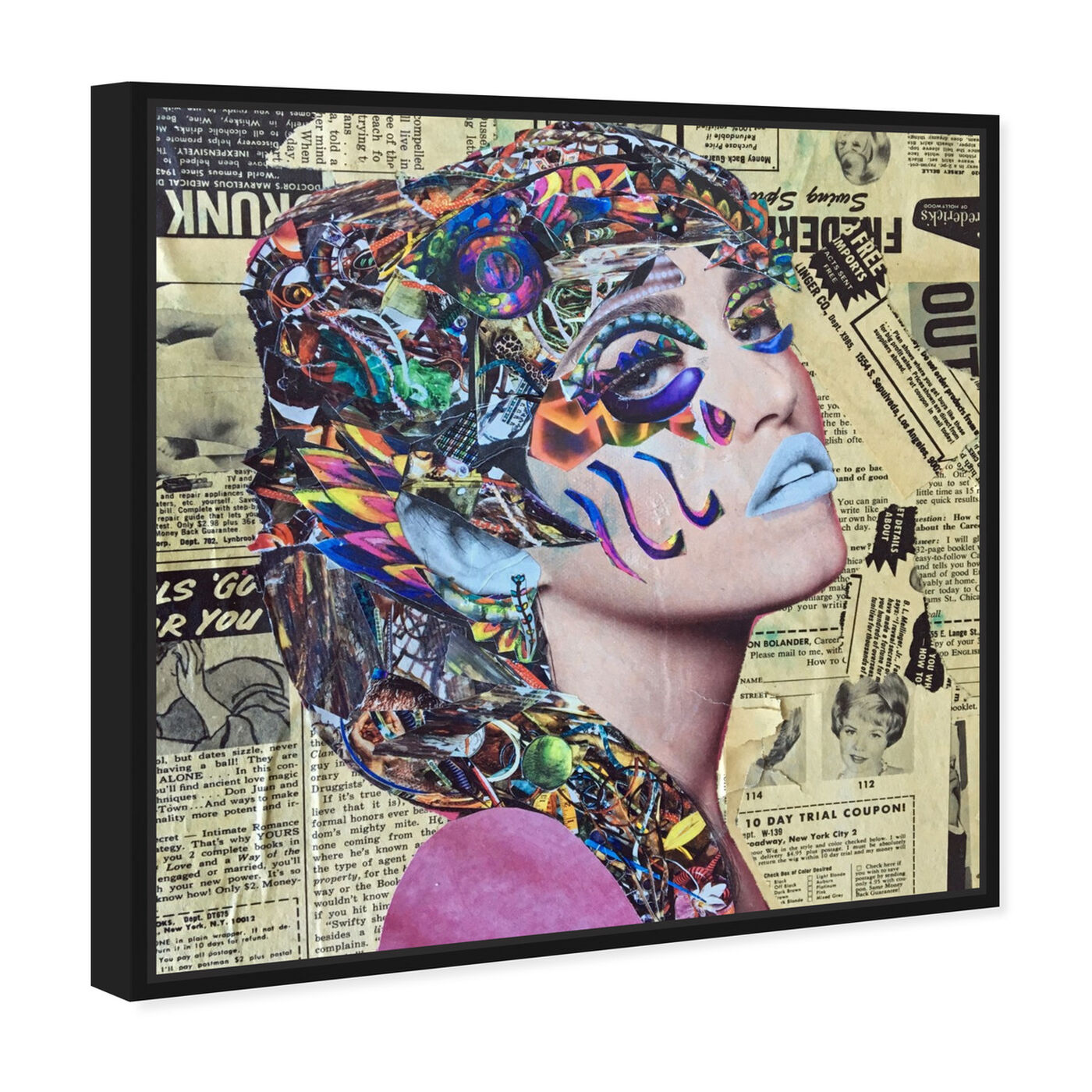 Angled view of Hieroglyphics by Katy Hirschfeld featuring fashion and glam and portraits art.