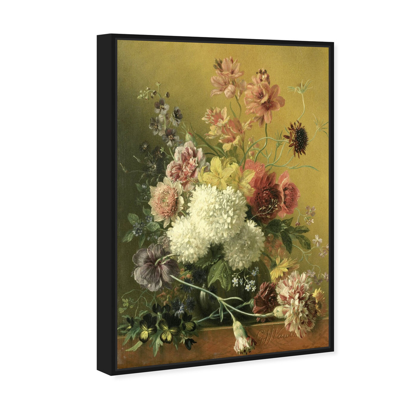 Angled view of Flower Arrangement - The Art Cabinet featuring classic and figurative and french décor art.