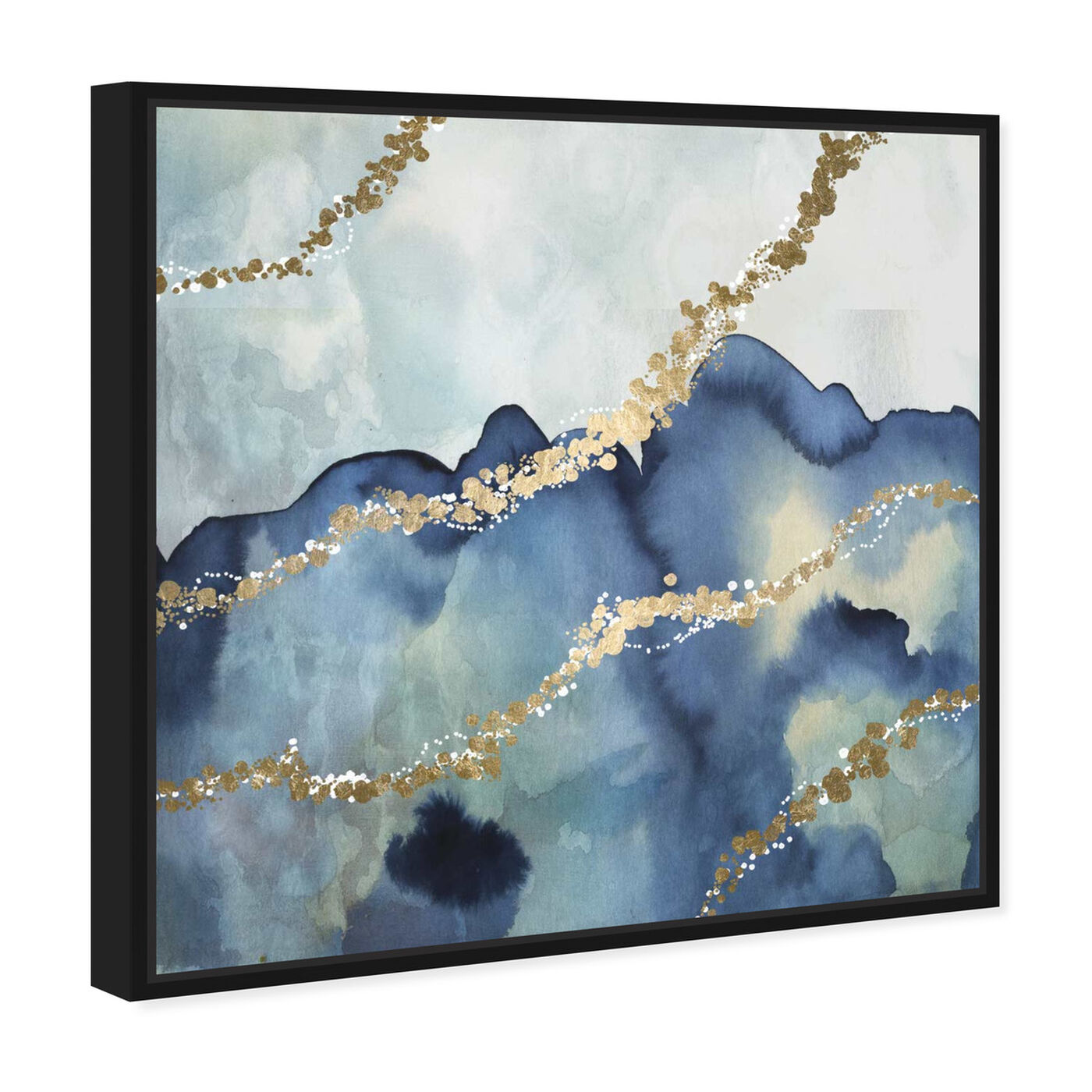 Angled view of More than Love featuring abstract and watercolor art.