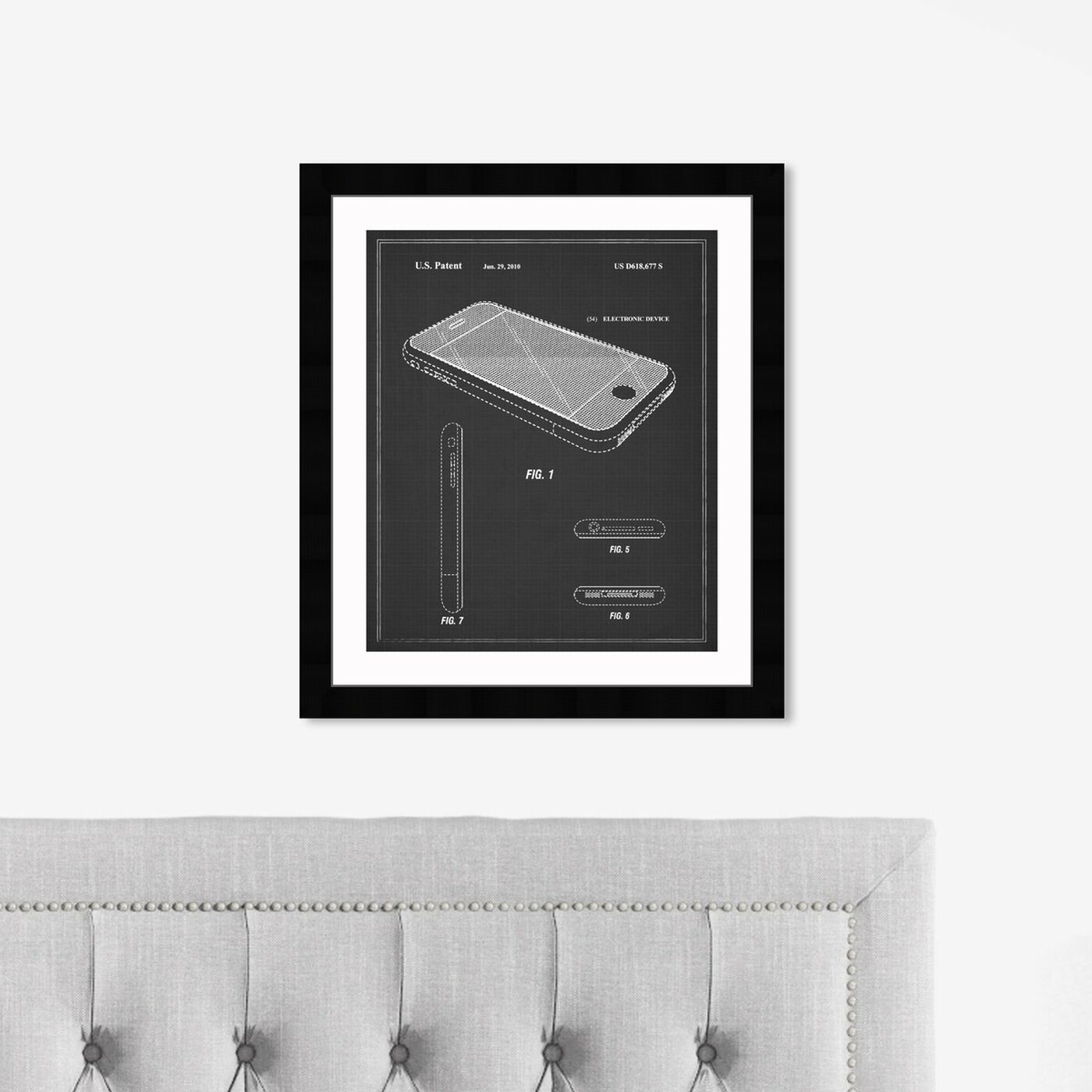 Hanging view of Apple Iphone, 2010 - Noir featuring symbols and objects and workspace art.