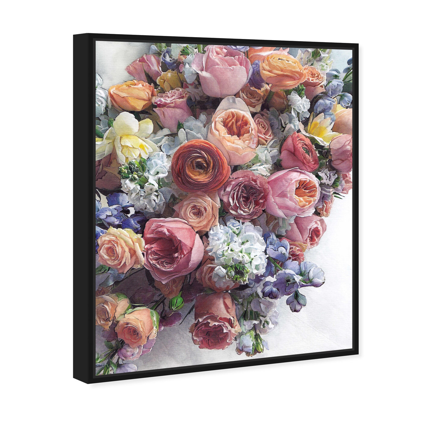 Angled view of Summer Feelings featuring floral and botanical and florals art.