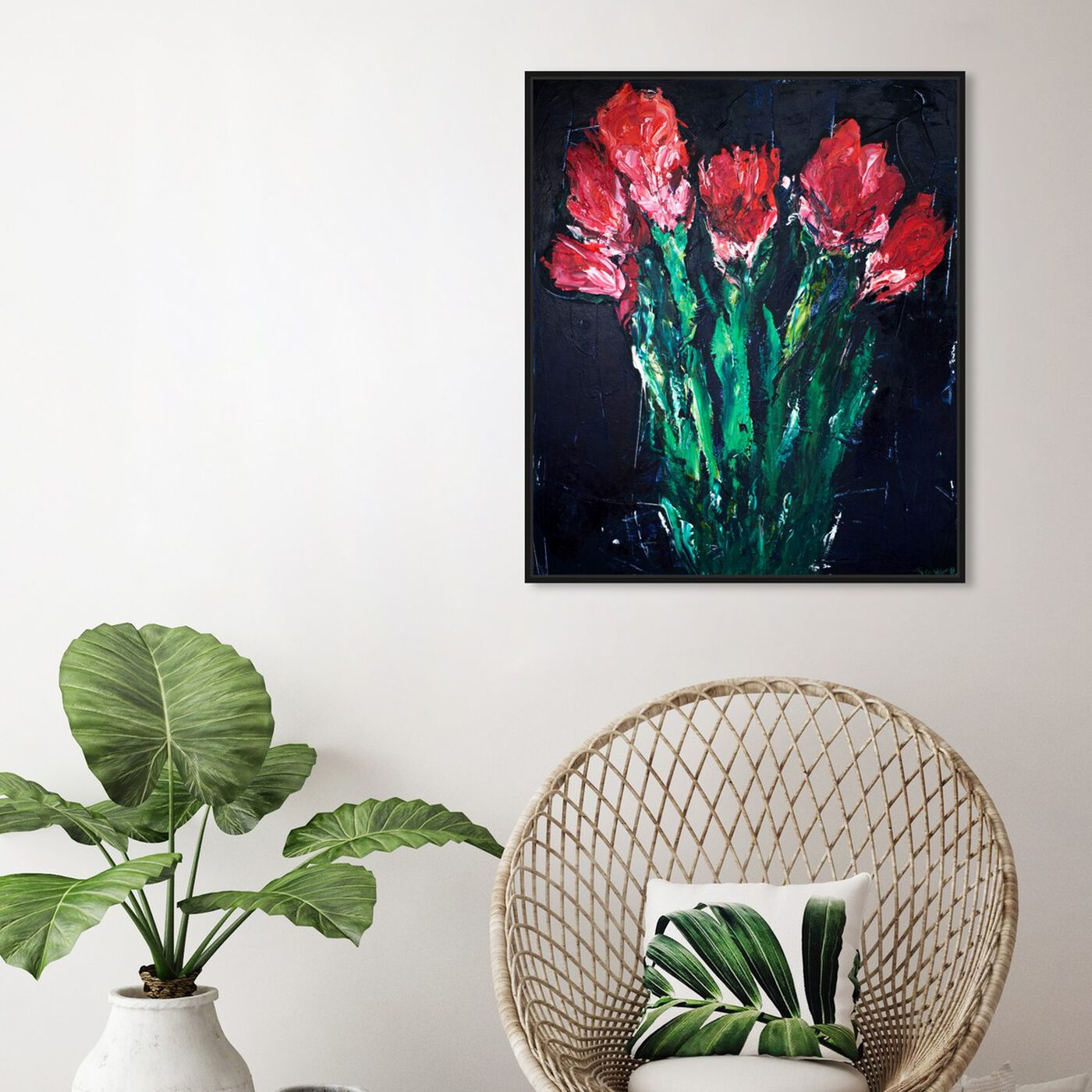 Hanging view of Rock and Roll by Claire Sower featuring floral and botanical and florals art.