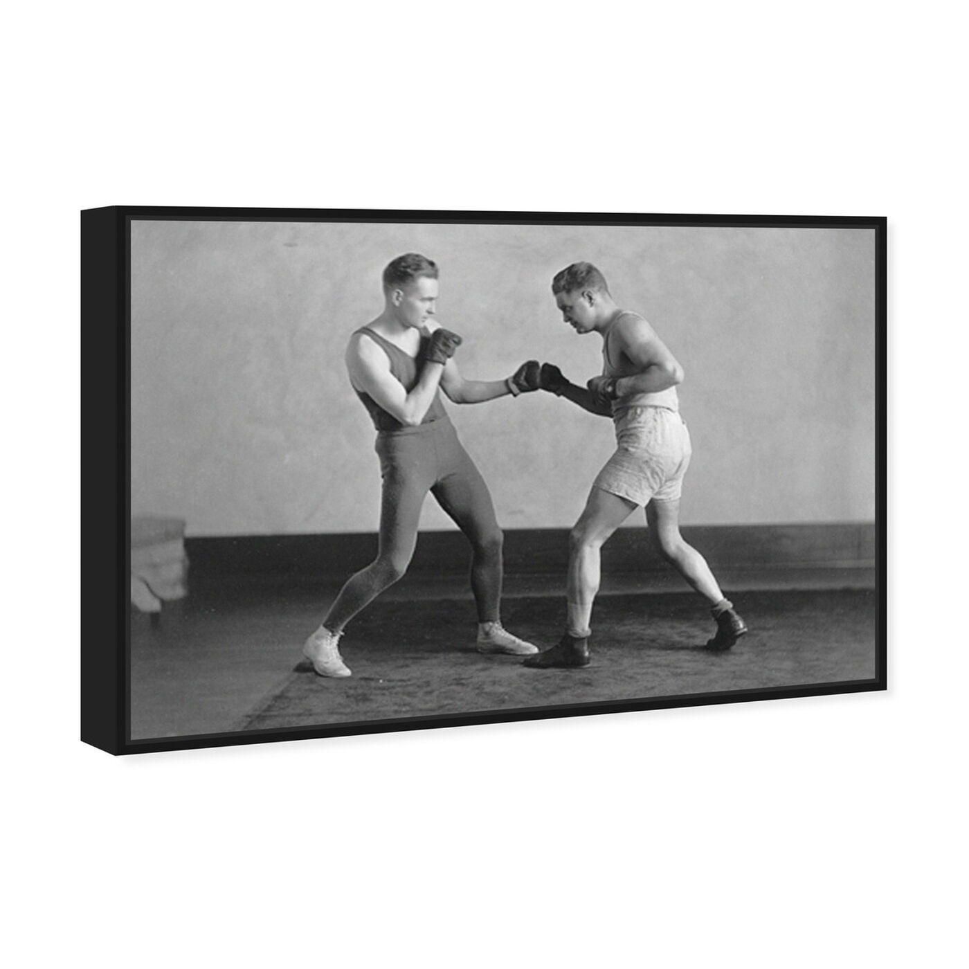 Angled view of McGill Boxing - The Art Cabinet featuring sports and teams and boxing art.