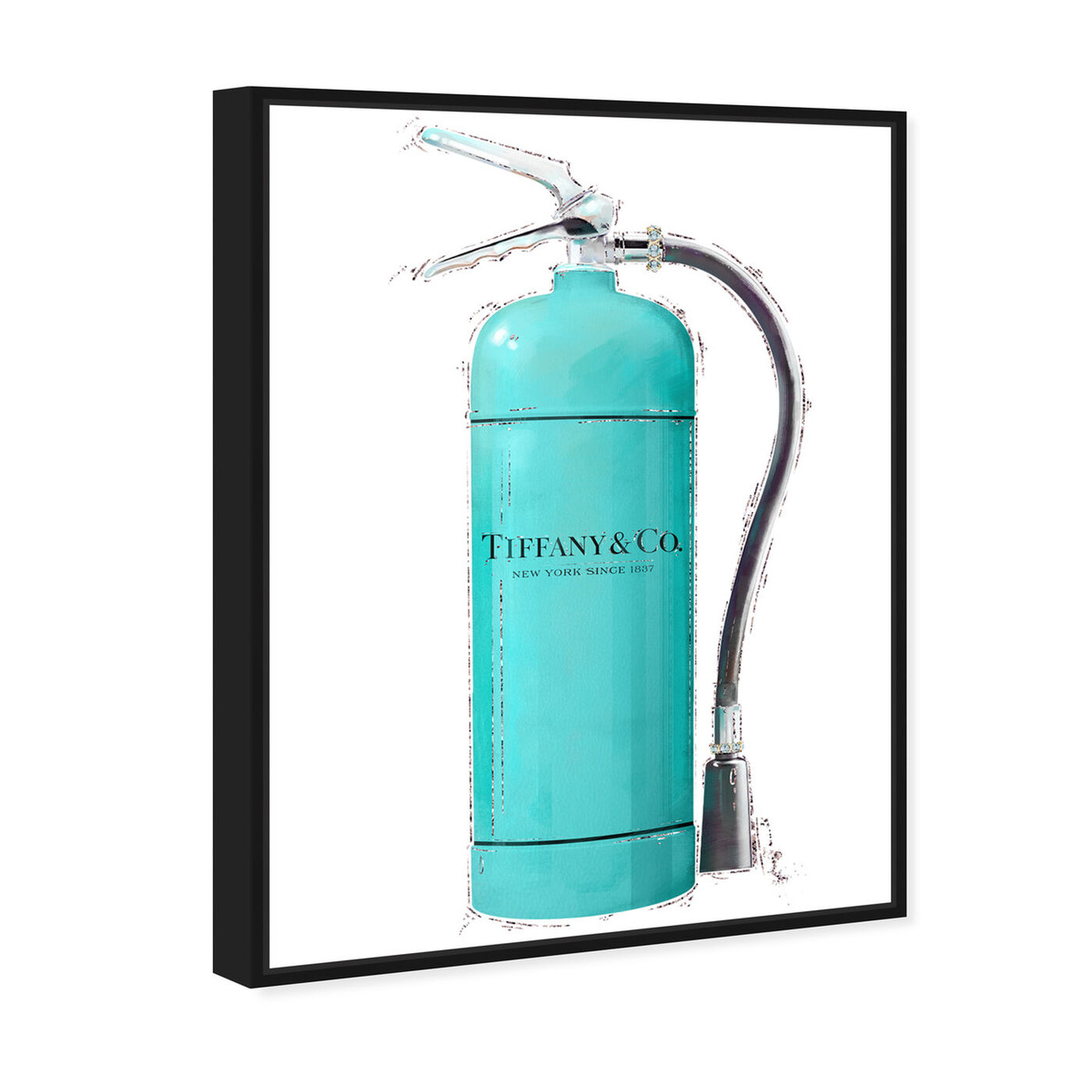 Angled view of Acqua Extinguisher featuring fashion and glam and lifestyle art.