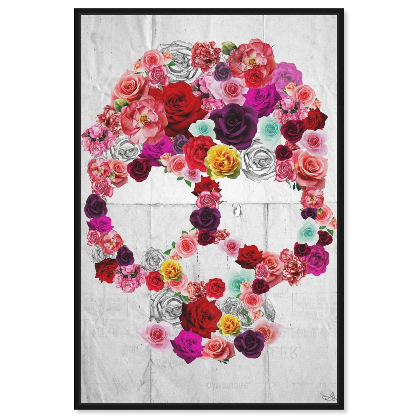 Front view of Bed of Roses featuring floral and botanical and florals art.
