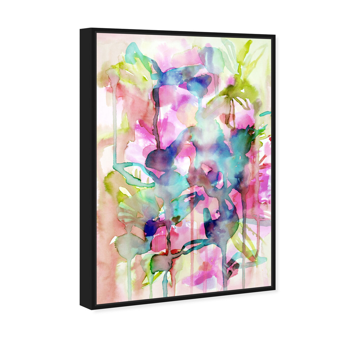 Angled view of Floral Spring featuring abstract and flowers art.
