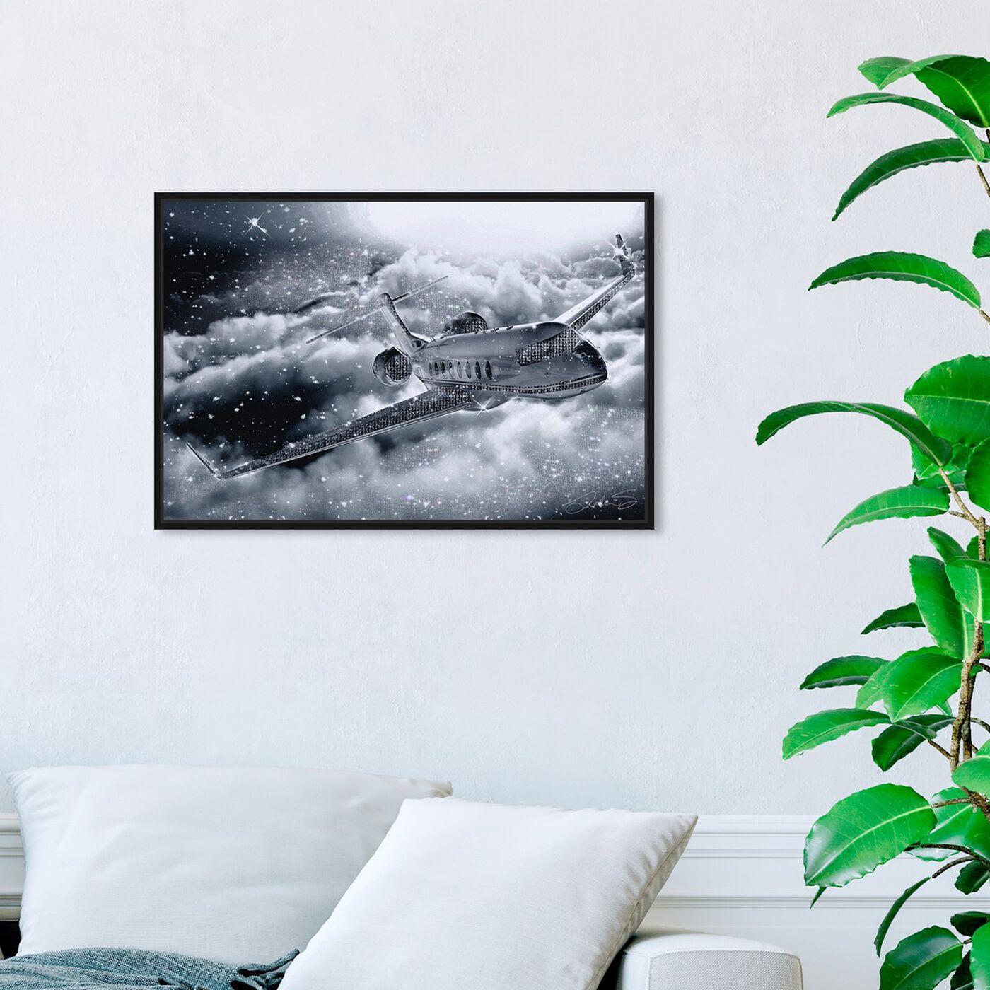 Hanging view of Nothing Like Flying Private featuring transportation and airplanes art.
