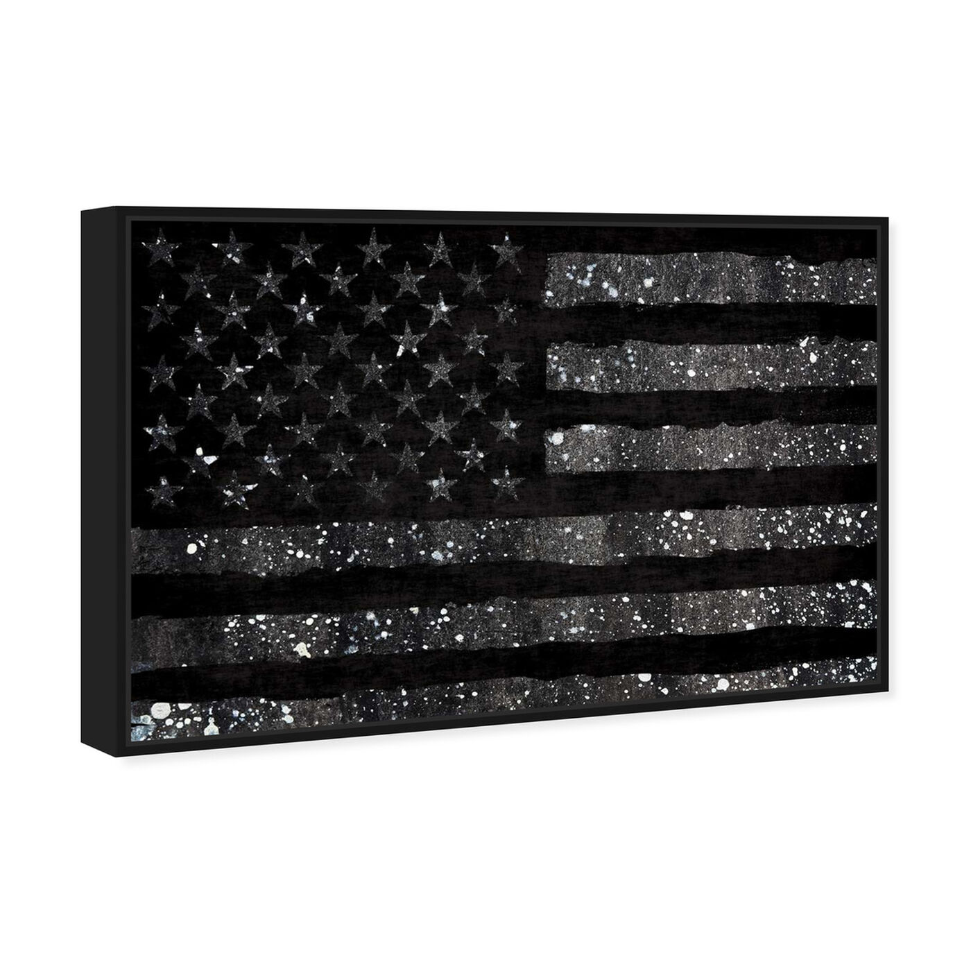 Angled view of Rocky Freedom Dark featuring americana and patriotic and us flags art.