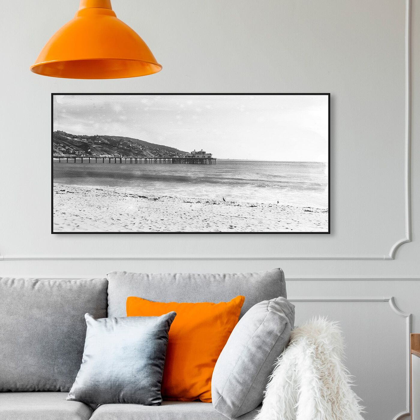 Hanging view of On The Pier featuring nautical and coastal and coastal landscapes art.