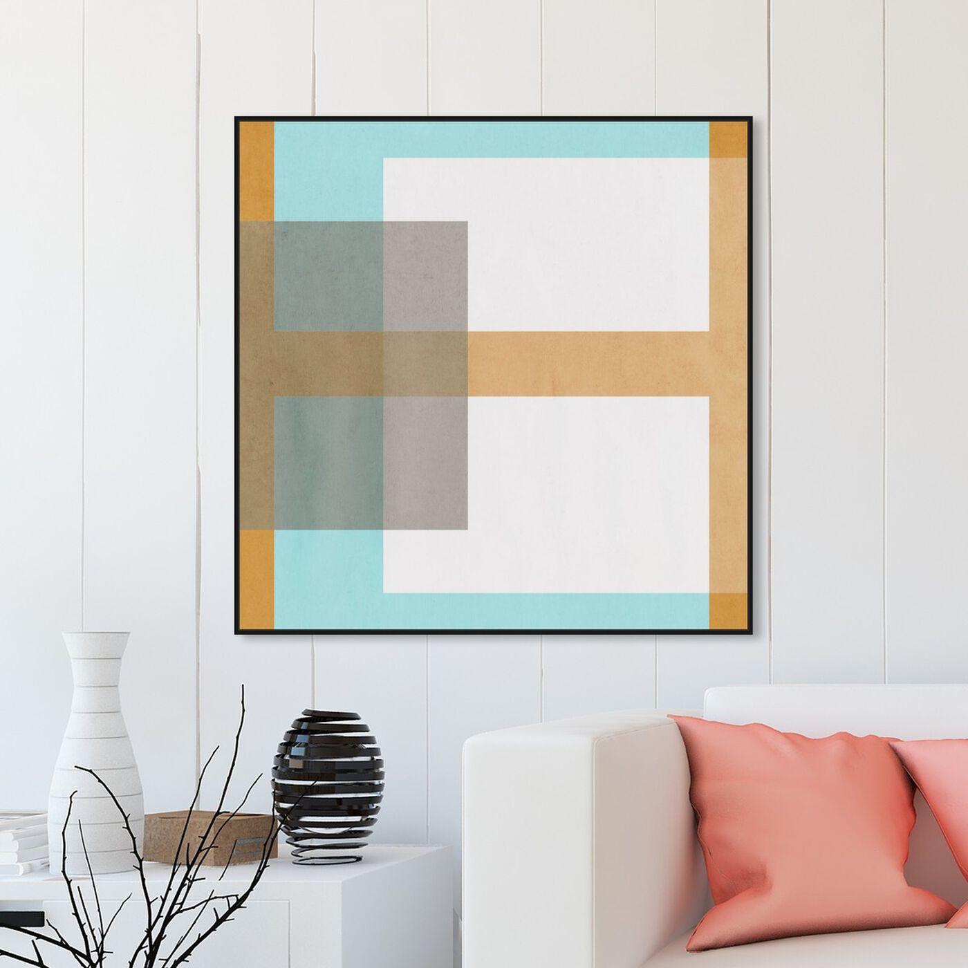 Hanging view of Cortado de Verano featuring abstract and geometric art.