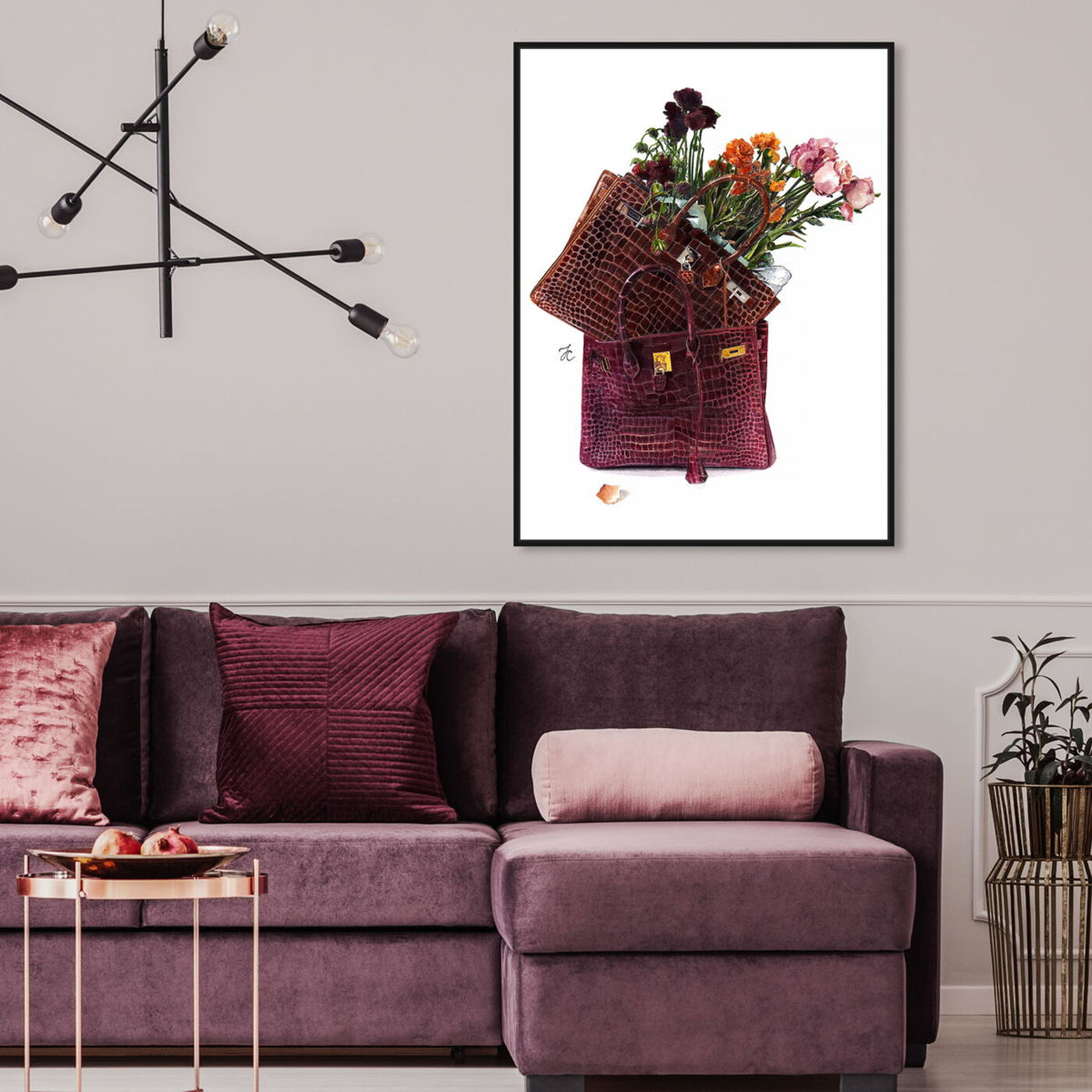 Hanging view of Doll Memories - Flowers featuring fashion and glam and handbags art.