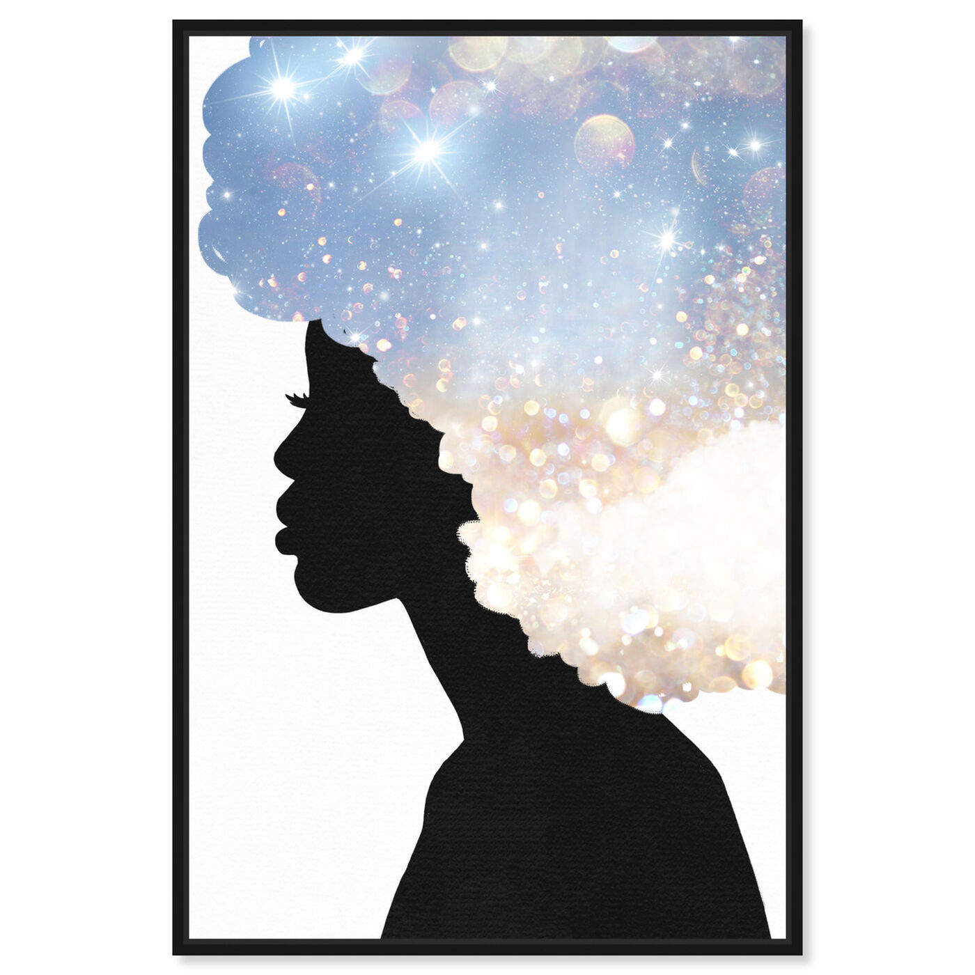 Front view of Her Head in the Clouds featuring fashion and glam and portraits art.