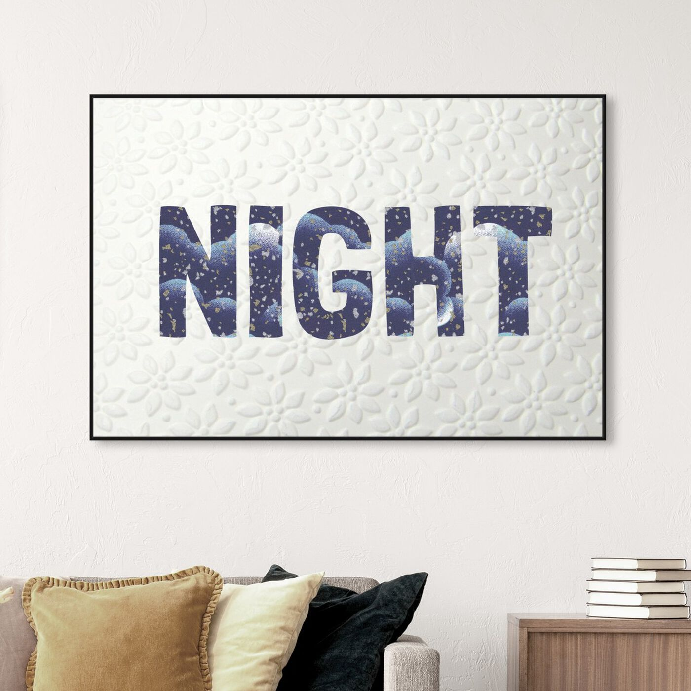 Hanging view of Night Blue featuring typography and quotes and quotes and sayings art.