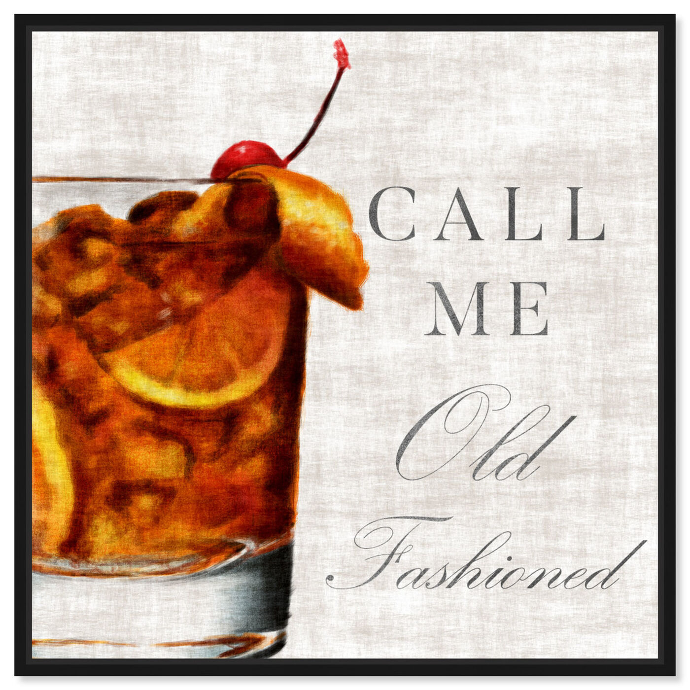 Front view of Call Me Old Fashioned featuring drinks and spirits and liquor art.