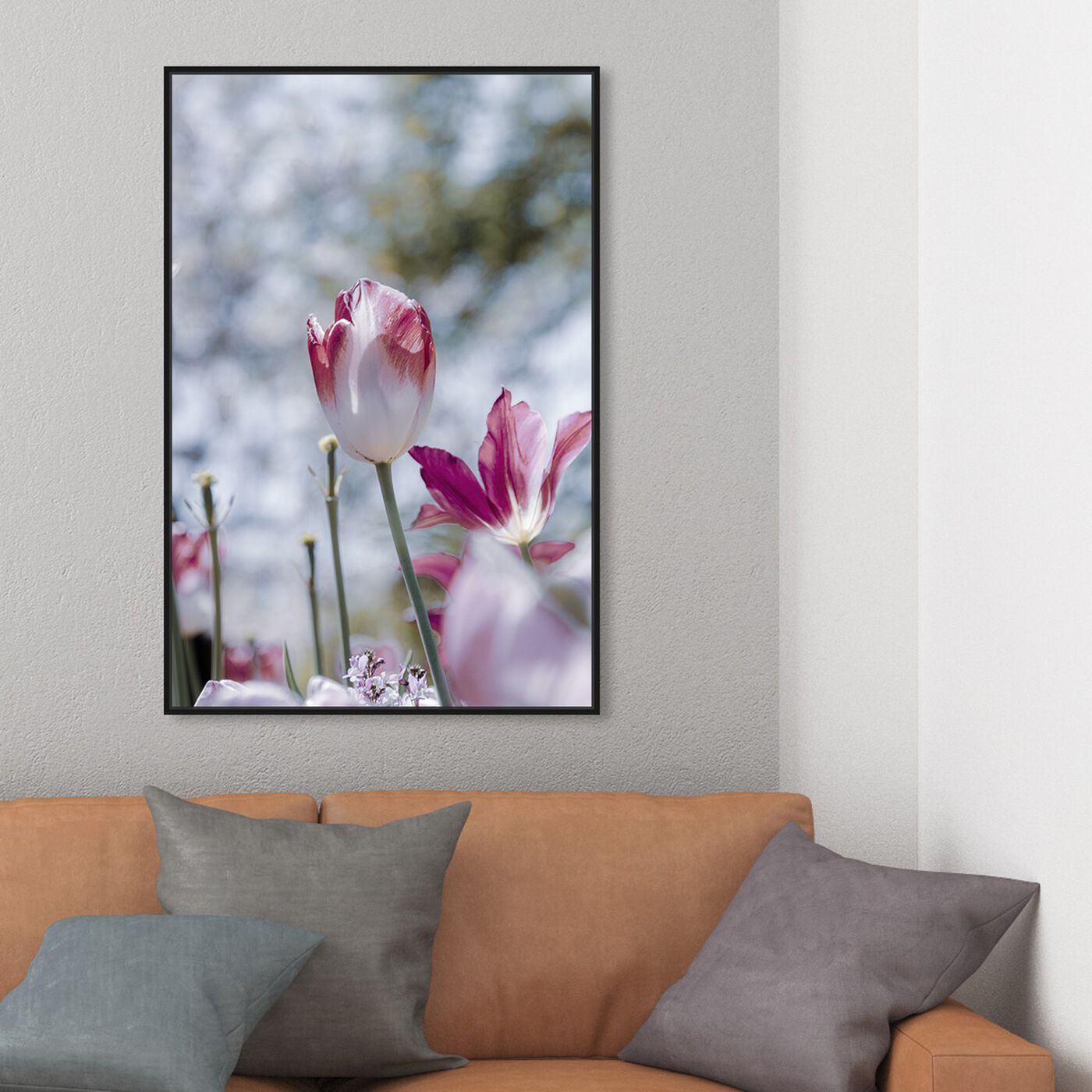 Hanging view of Curro Cardenal - Flower during Winter featuring floral and botanical and florals art.