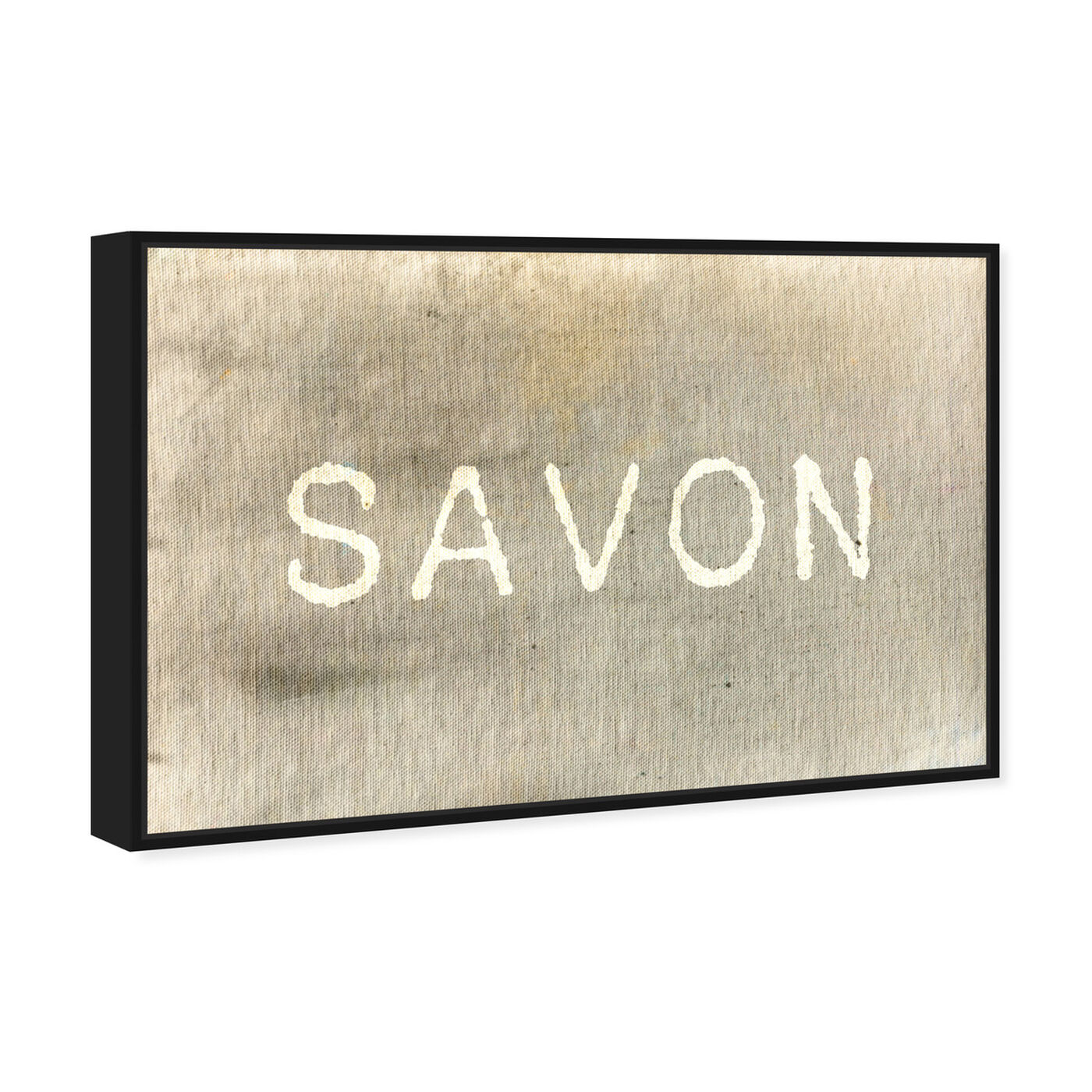 Angled view of Savon featuring typography and quotes and quotes and sayings art.