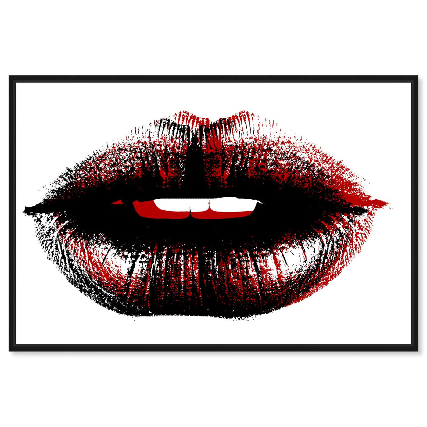 Front view of Bond Girl Lips featuring fashion and glam and lips art.