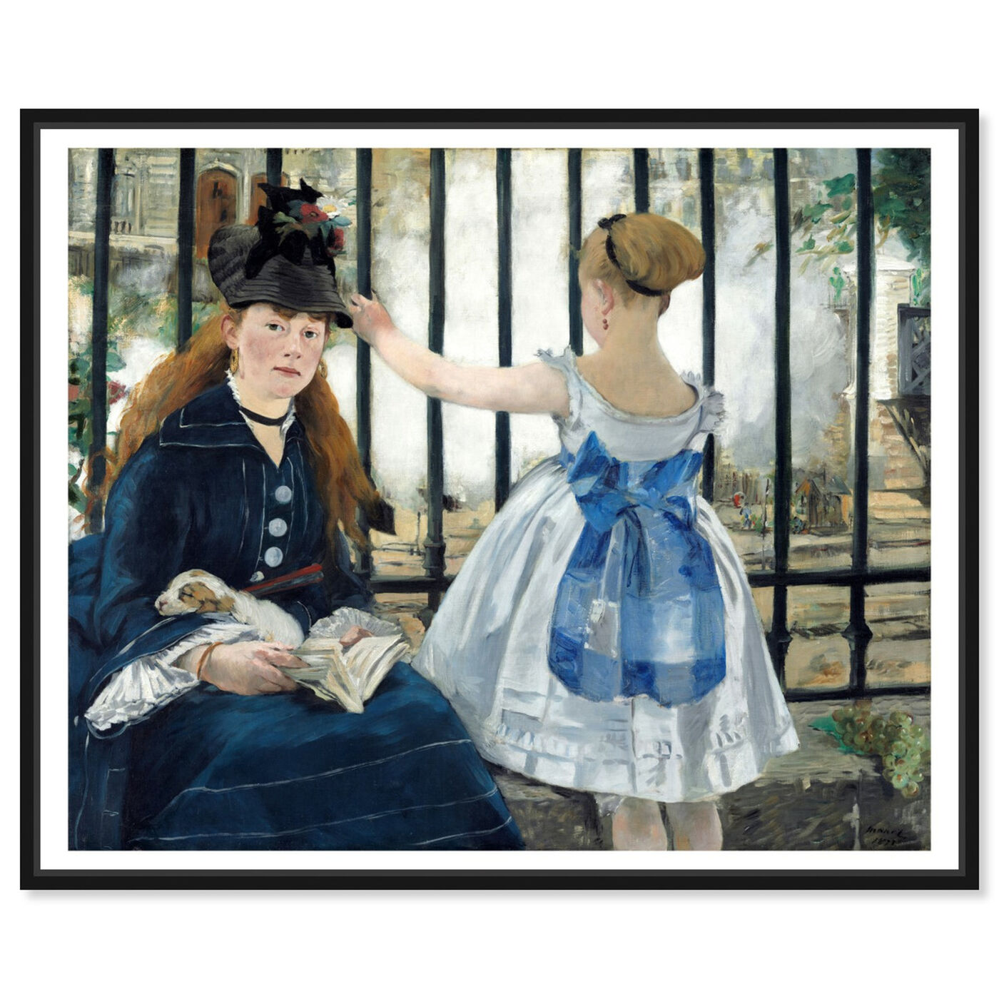 Front view of Manet - Le Chemin De Fer featuring classic and figurative and classical figures art.