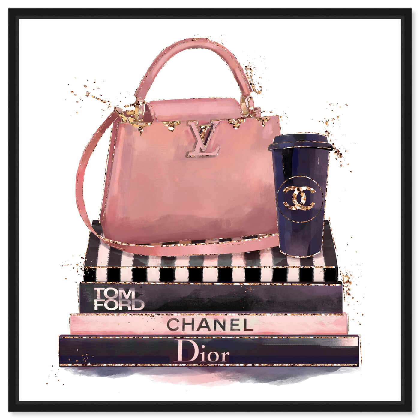 Front view of Treasured Handbag featuring fashion and glam and handbags art.