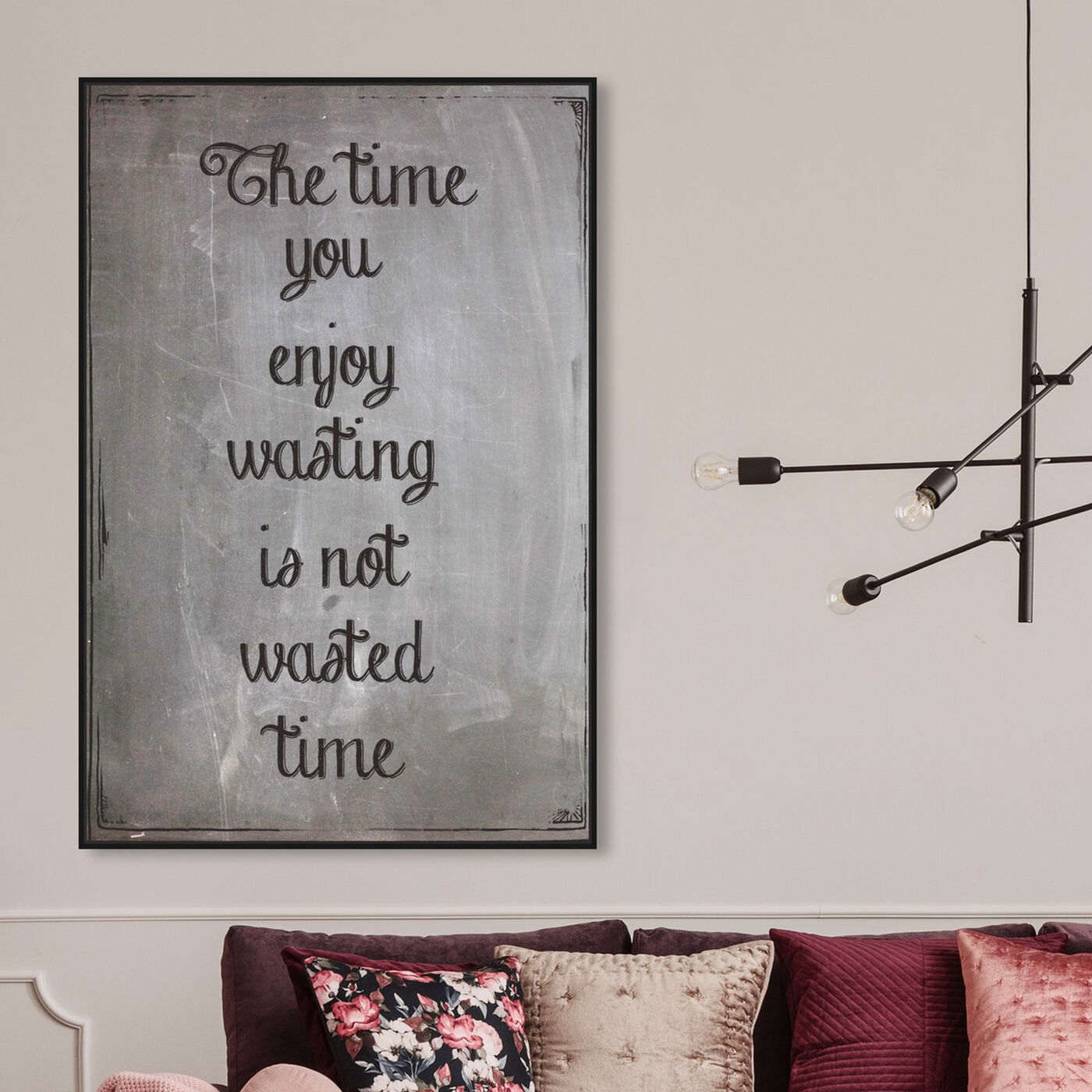 Hanging view of The Time featuring typography and quotes and inspirational quotes and sayings art.