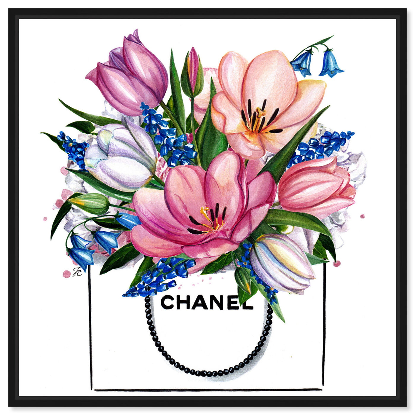 Front view of Doll Memories - Tulip Shopping Bag featuring fashion and glam and fashion art.
