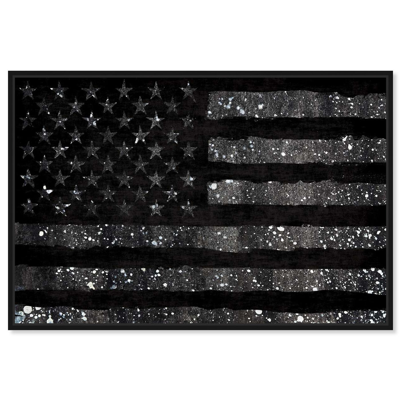 Front view of Rocky Freedom Dark featuring americana and patriotic and us flags art.