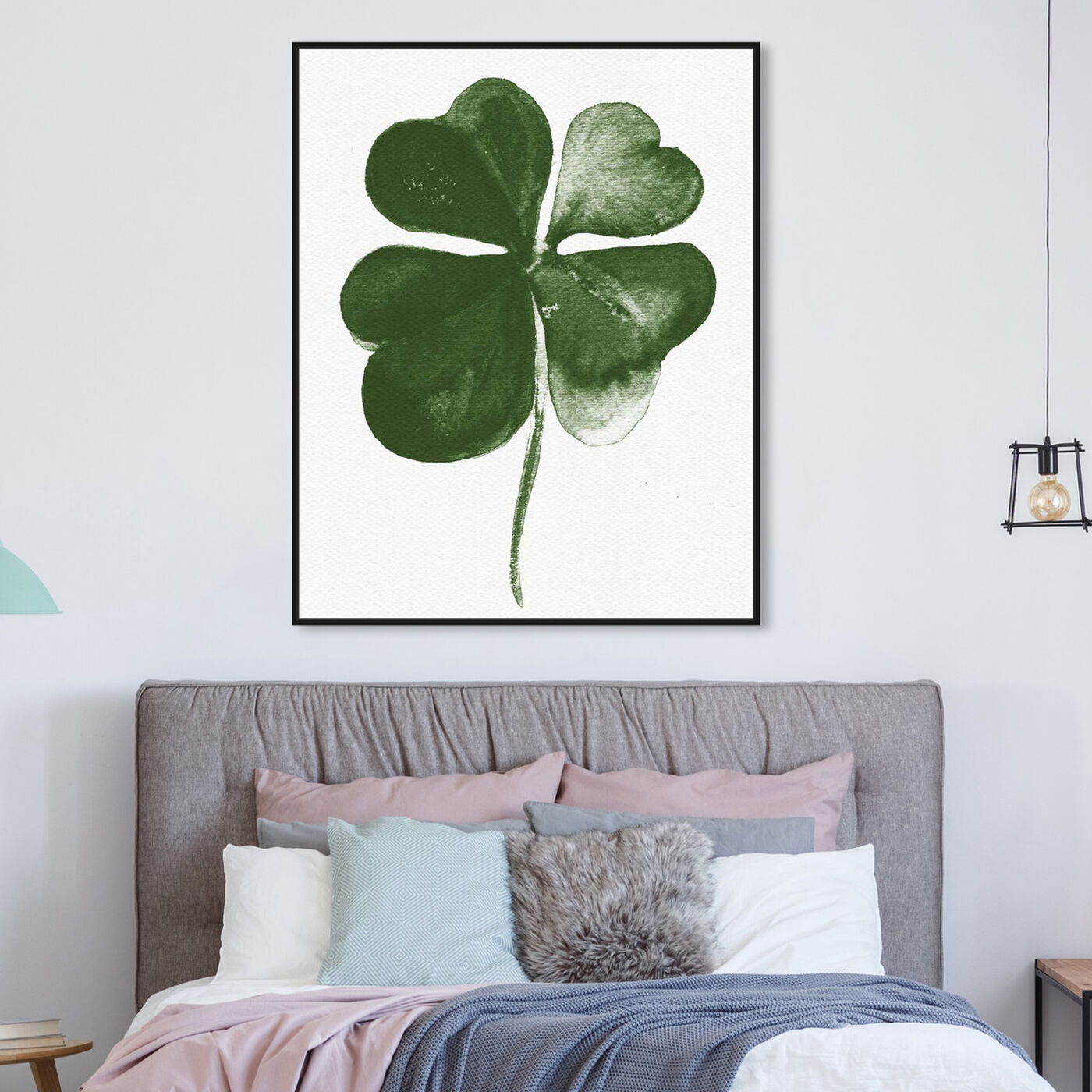 Hanging view of Four Leaf Clover featuring floral and botanical and botanicals art.