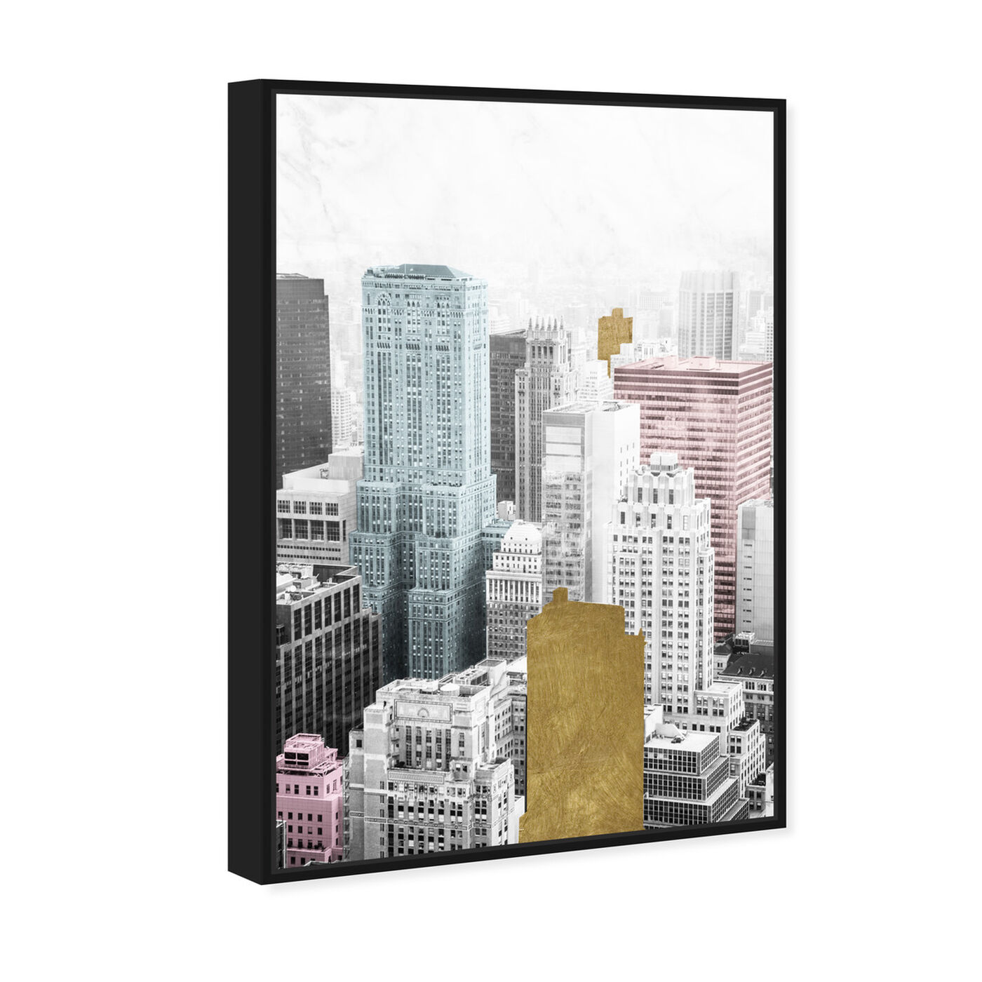 Angled view of Bright City and Gold featuring cities and skylines and united states cities art.