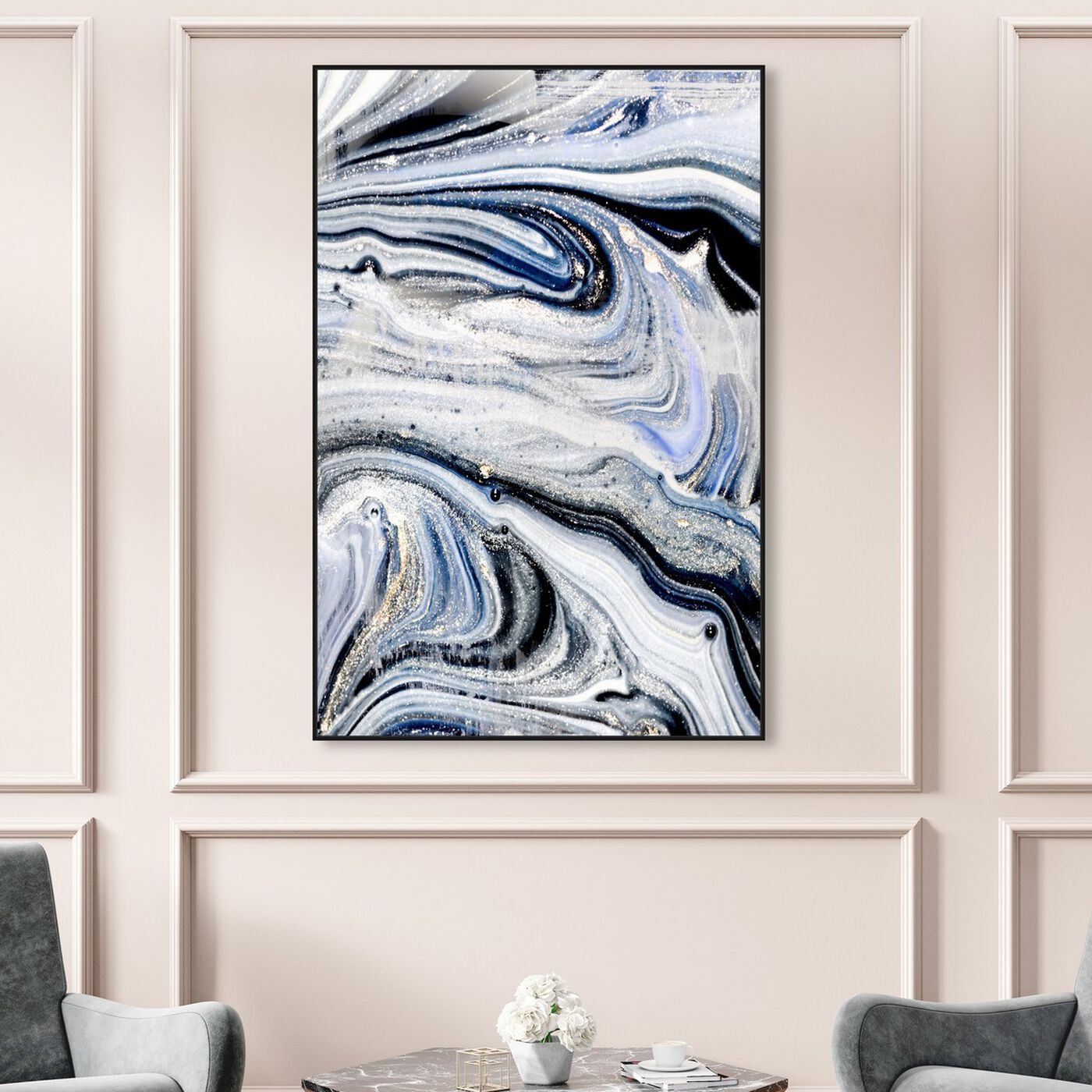 Hanging view of Mystic Morning featuring abstract and paint art.