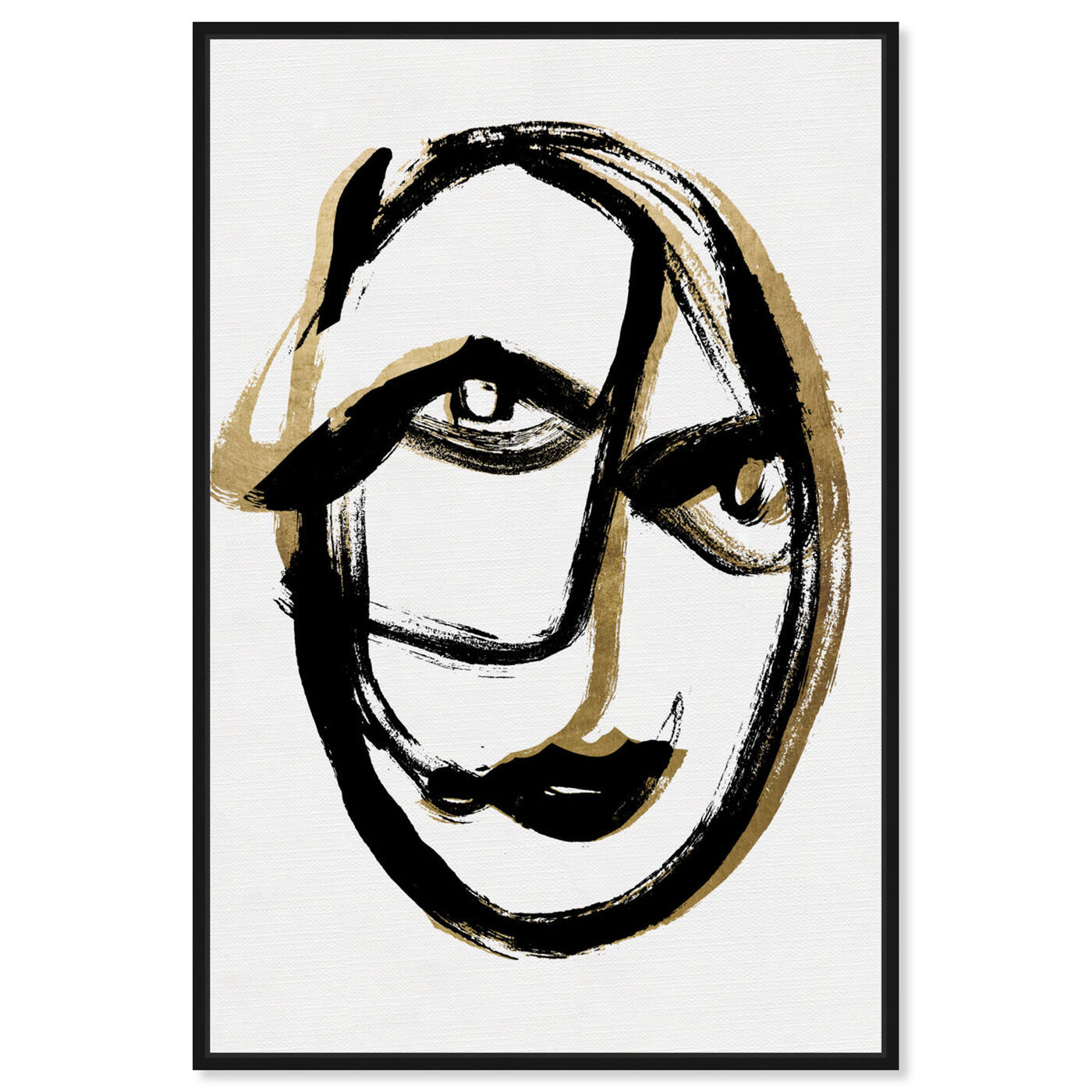 Front view of Abstract Portrait featuring abstract and paint art.
