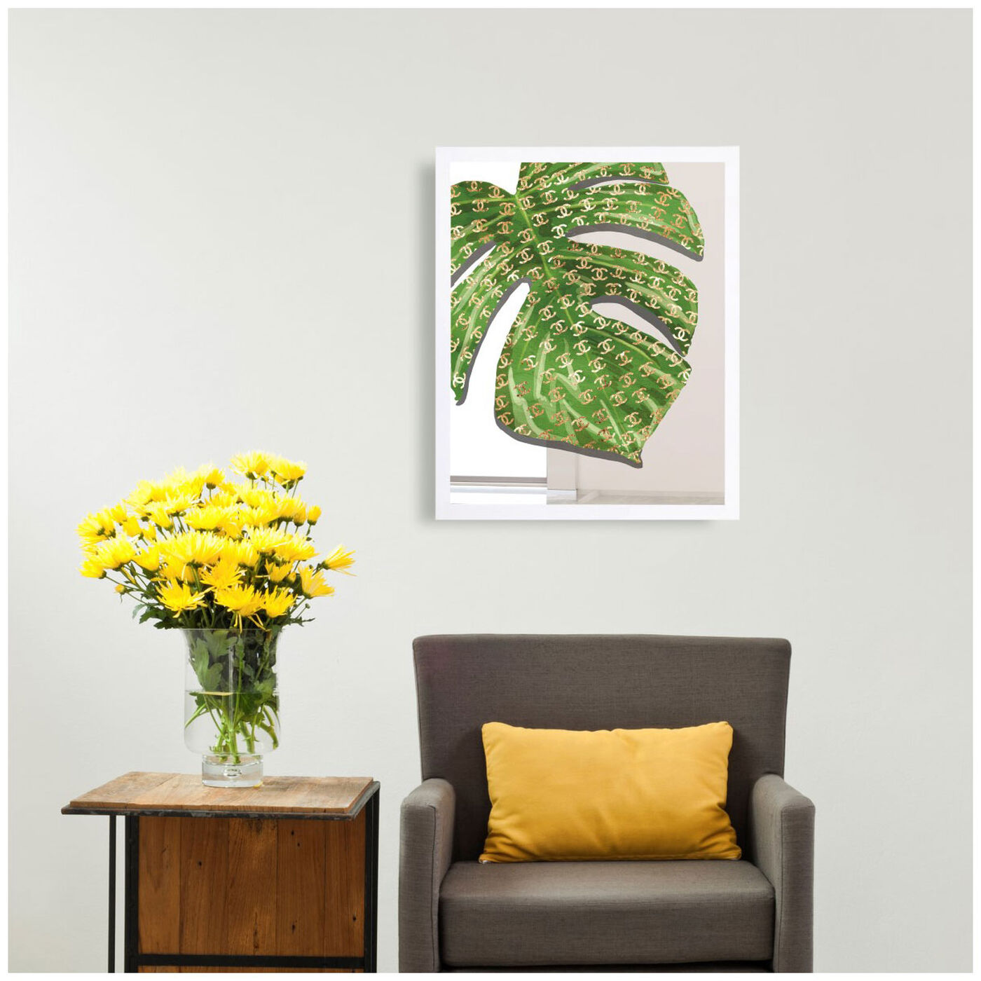 Hanging view of Fashion Leaves I featuring fashion and glam and fashion art.