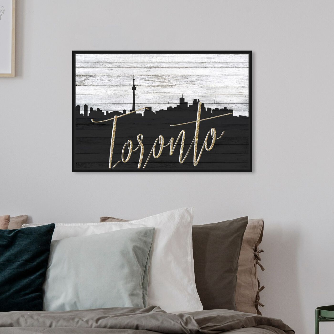 Hanging view of Toronto Skyline featuring cities and skylines and north american cities art.